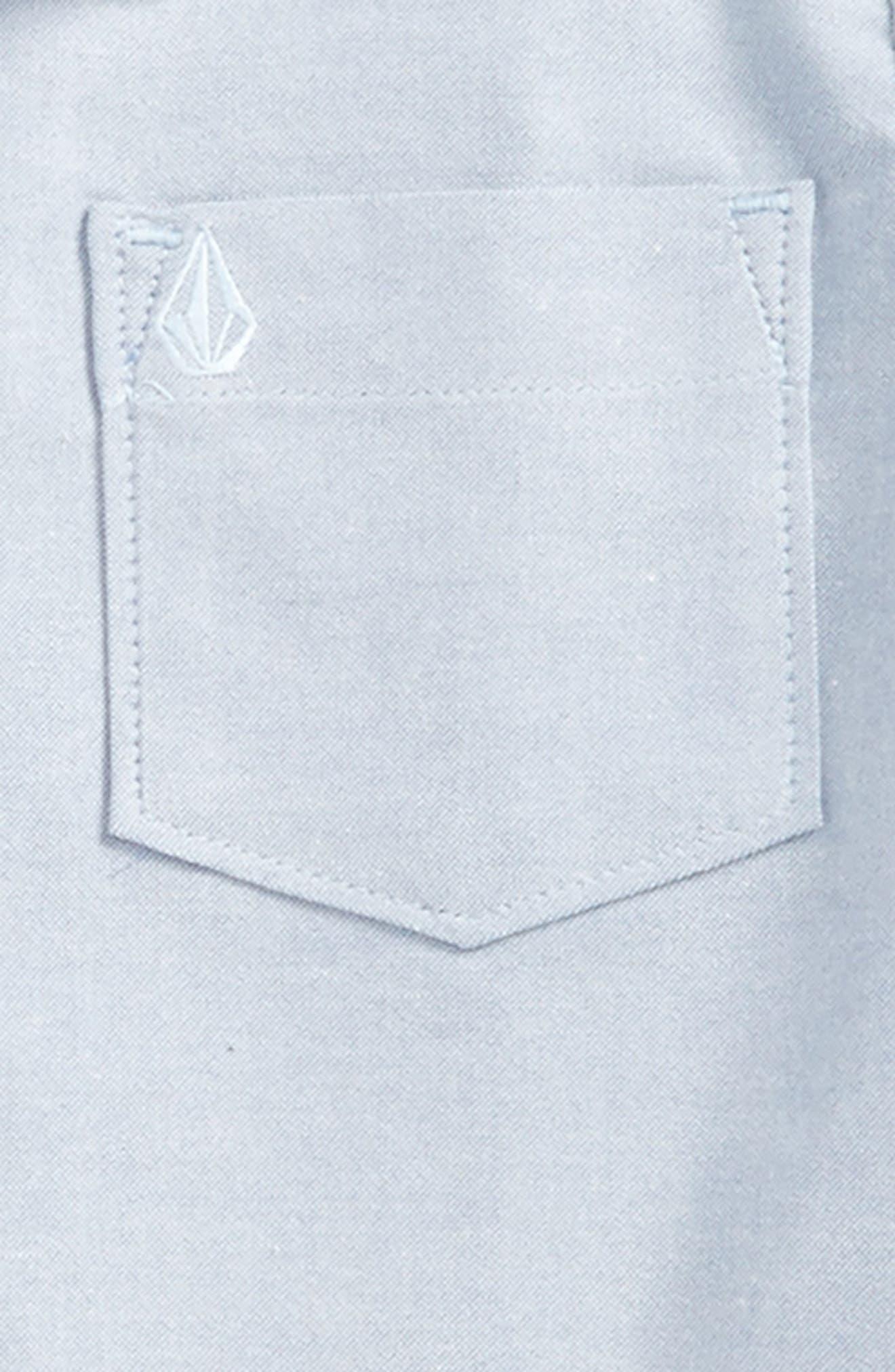 Everett Oxford Woven Shirt,                             Alternate thumbnail 2, color,                             Wrecked Indigo