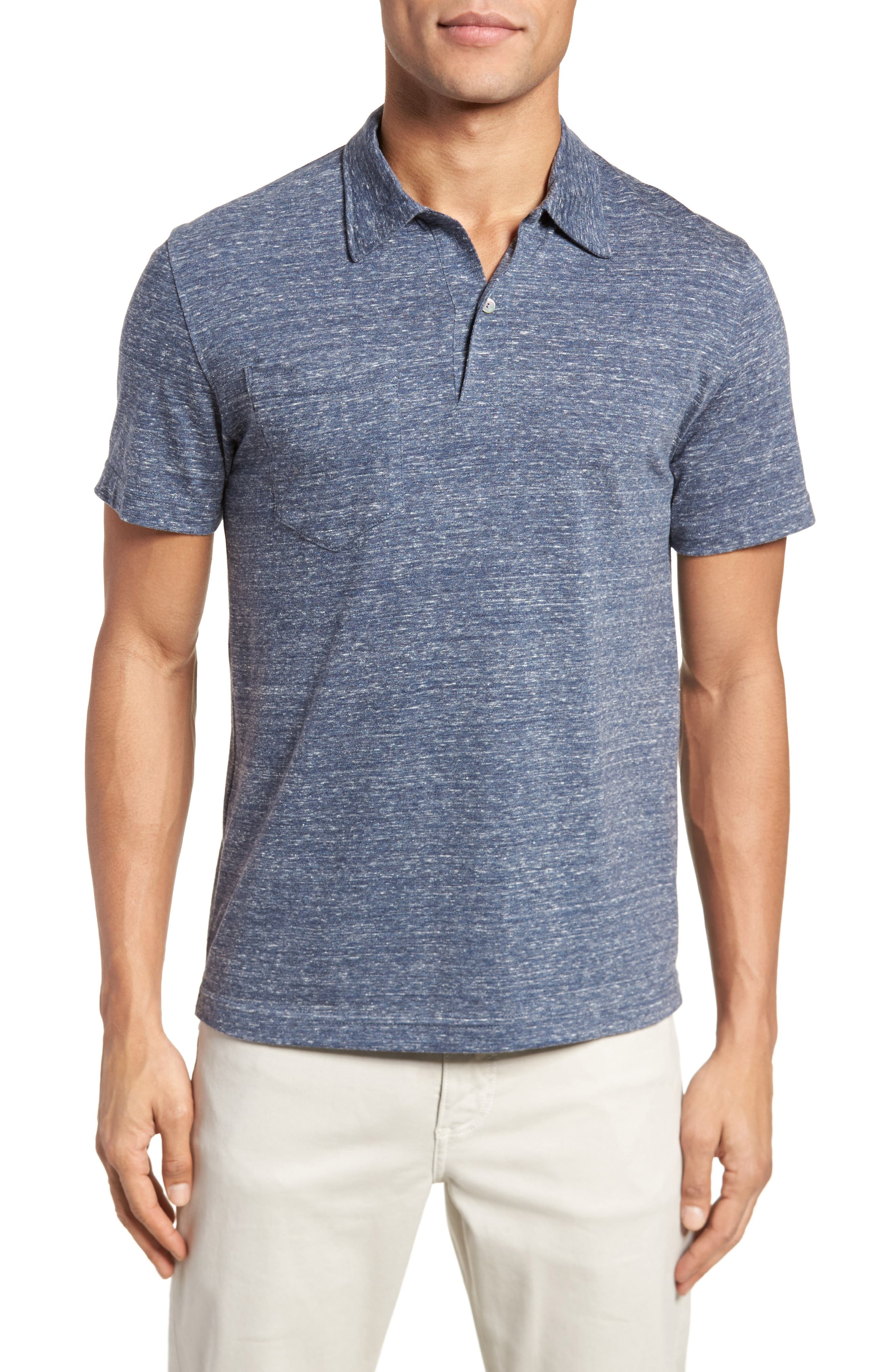 Owen Slim Fit Polo,                         Main,                         color, Blue Mix