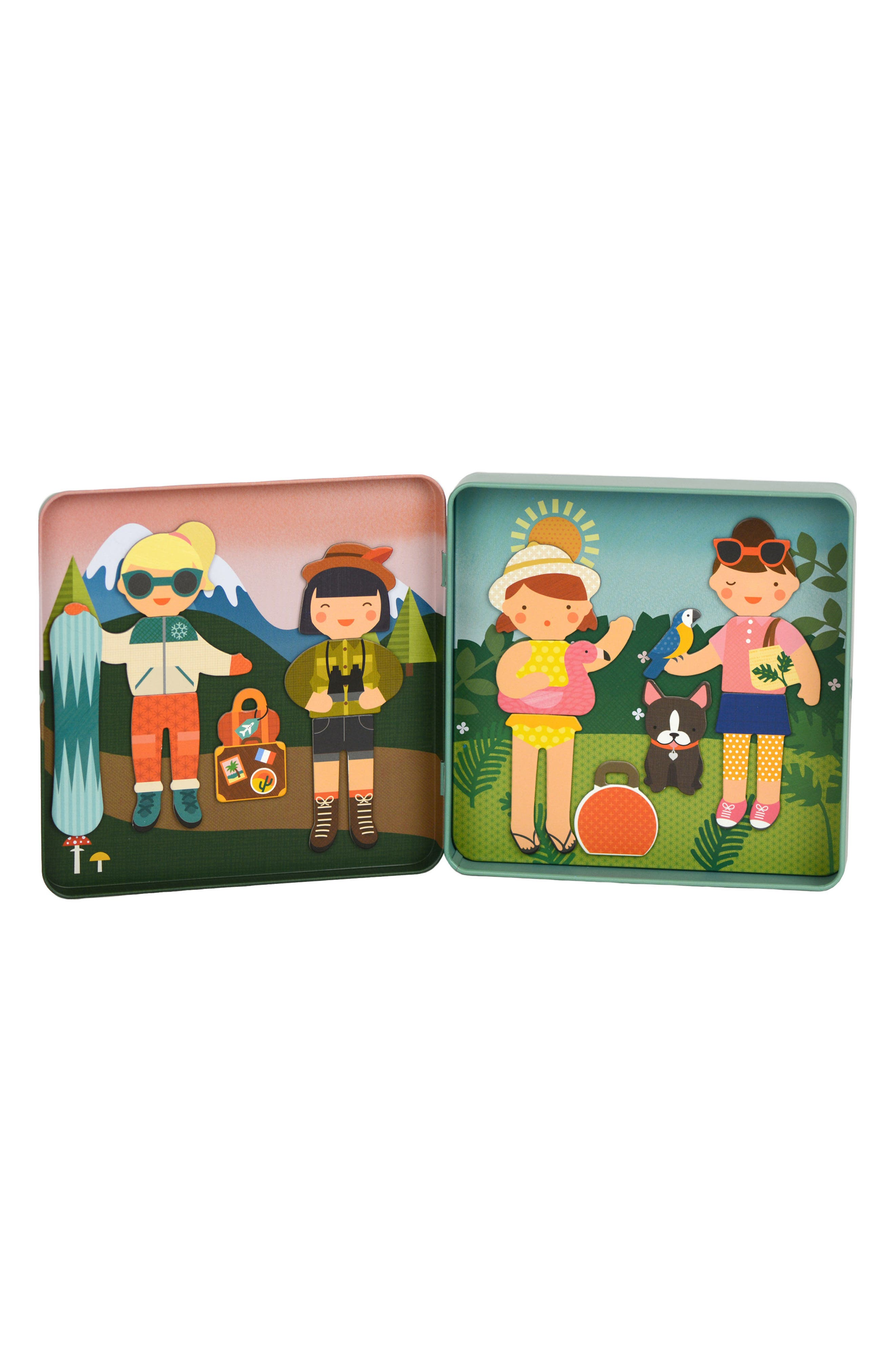 Little Travelers On-the-Go Magnetic Play Set,                             Alternate thumbnail 2, color,                             Green