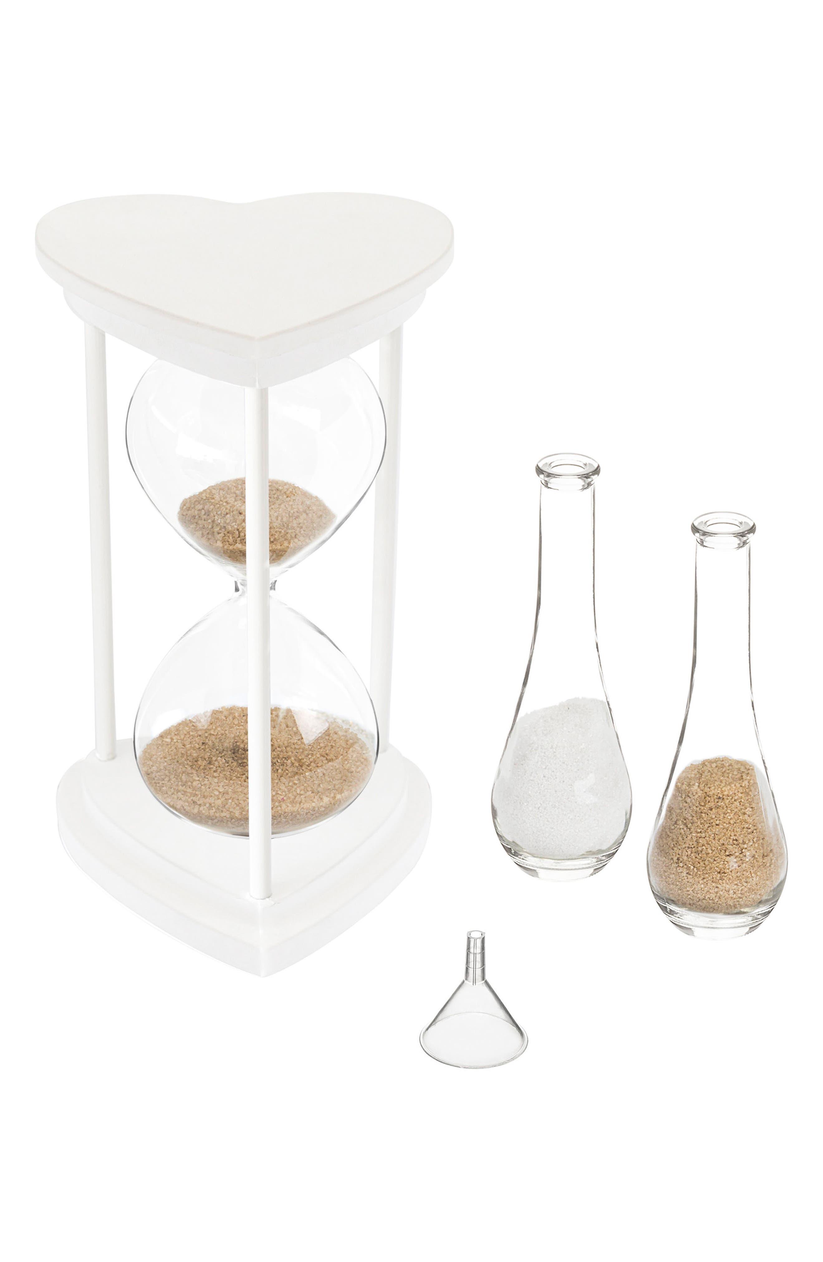 Monogram Unity Sand Ceremony Hourglass Set,                             Alternate thumbnail 7, color,