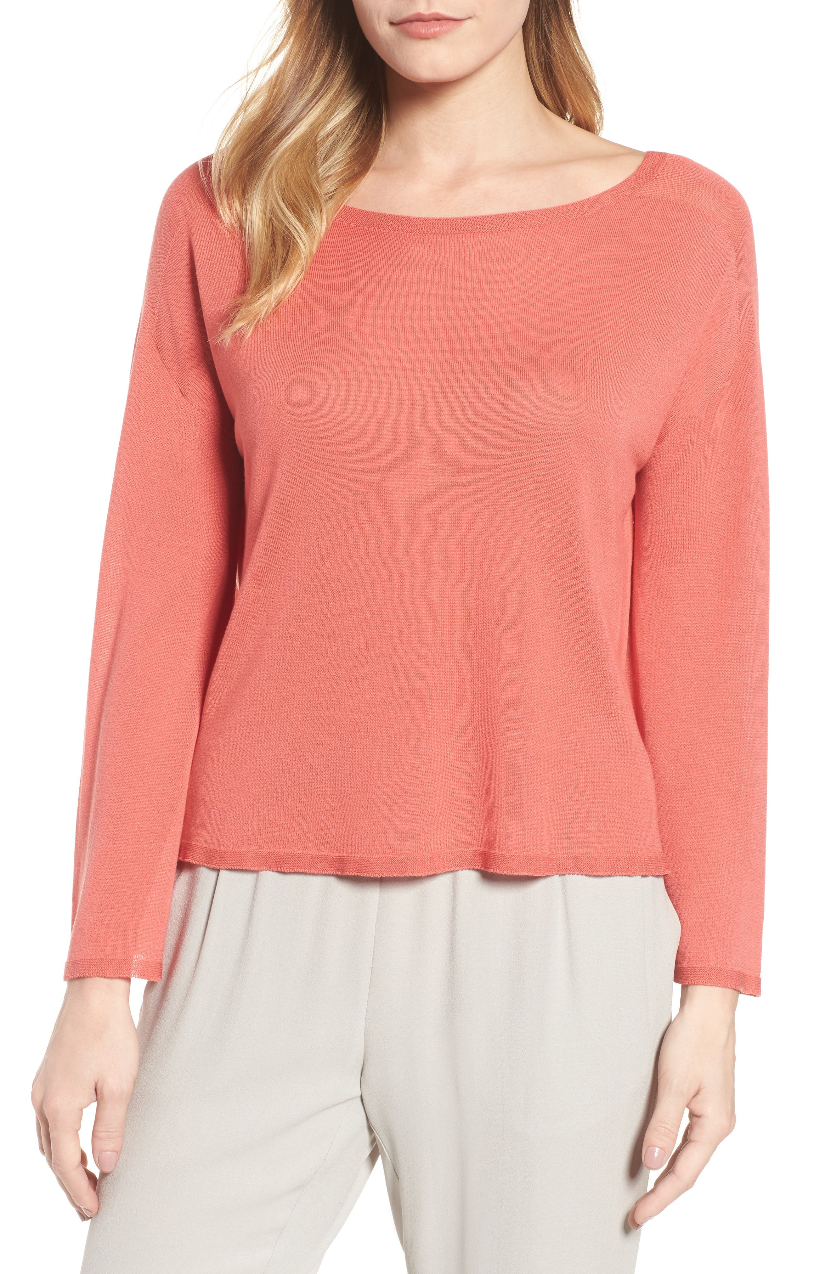 Eileen Fisher Tencel® Lyocell Knit Sweater (Regular & Petite)