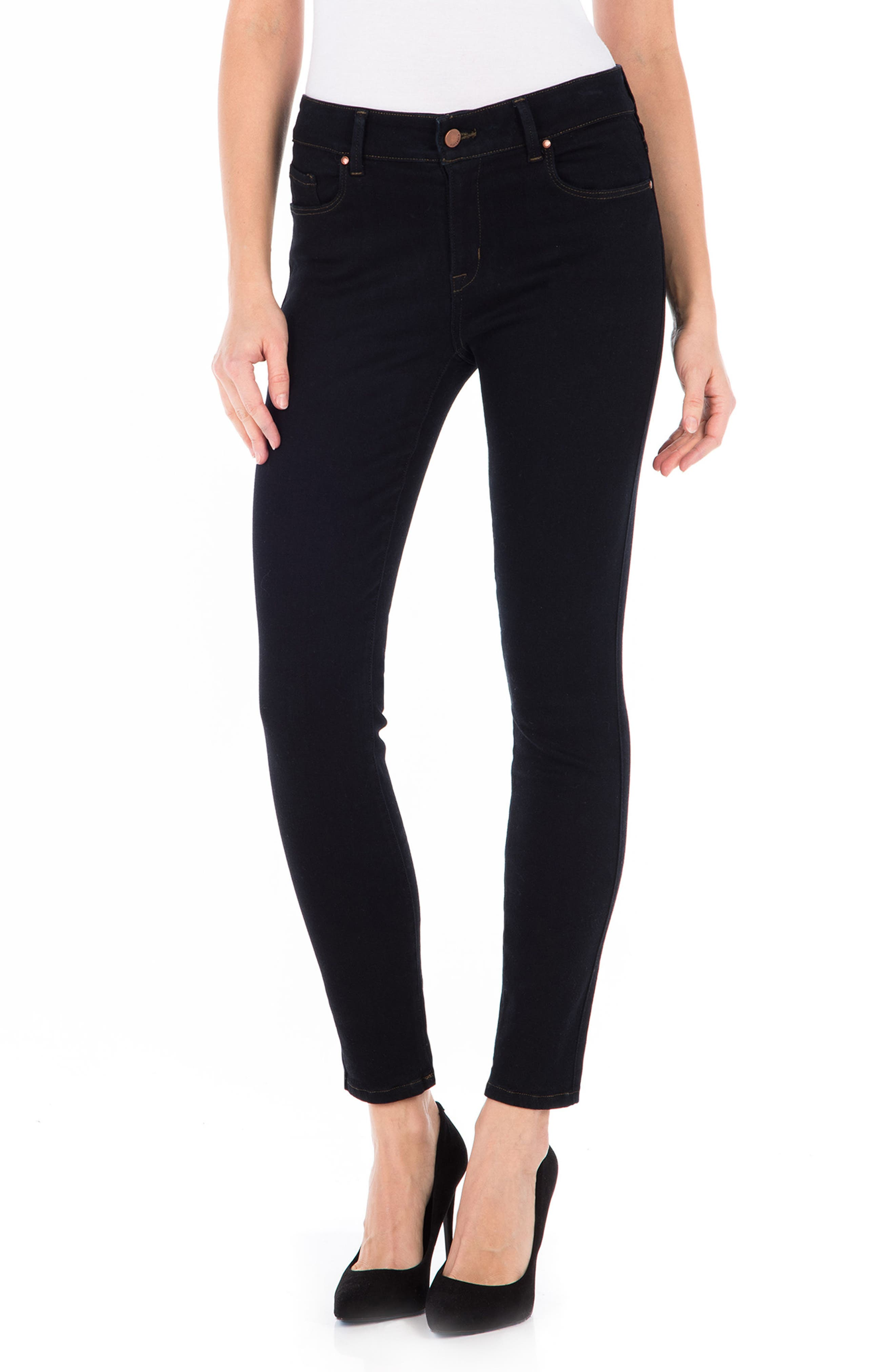 Main Image - Fidelity Denim Sola Skinny Jeans (Navy Noir)