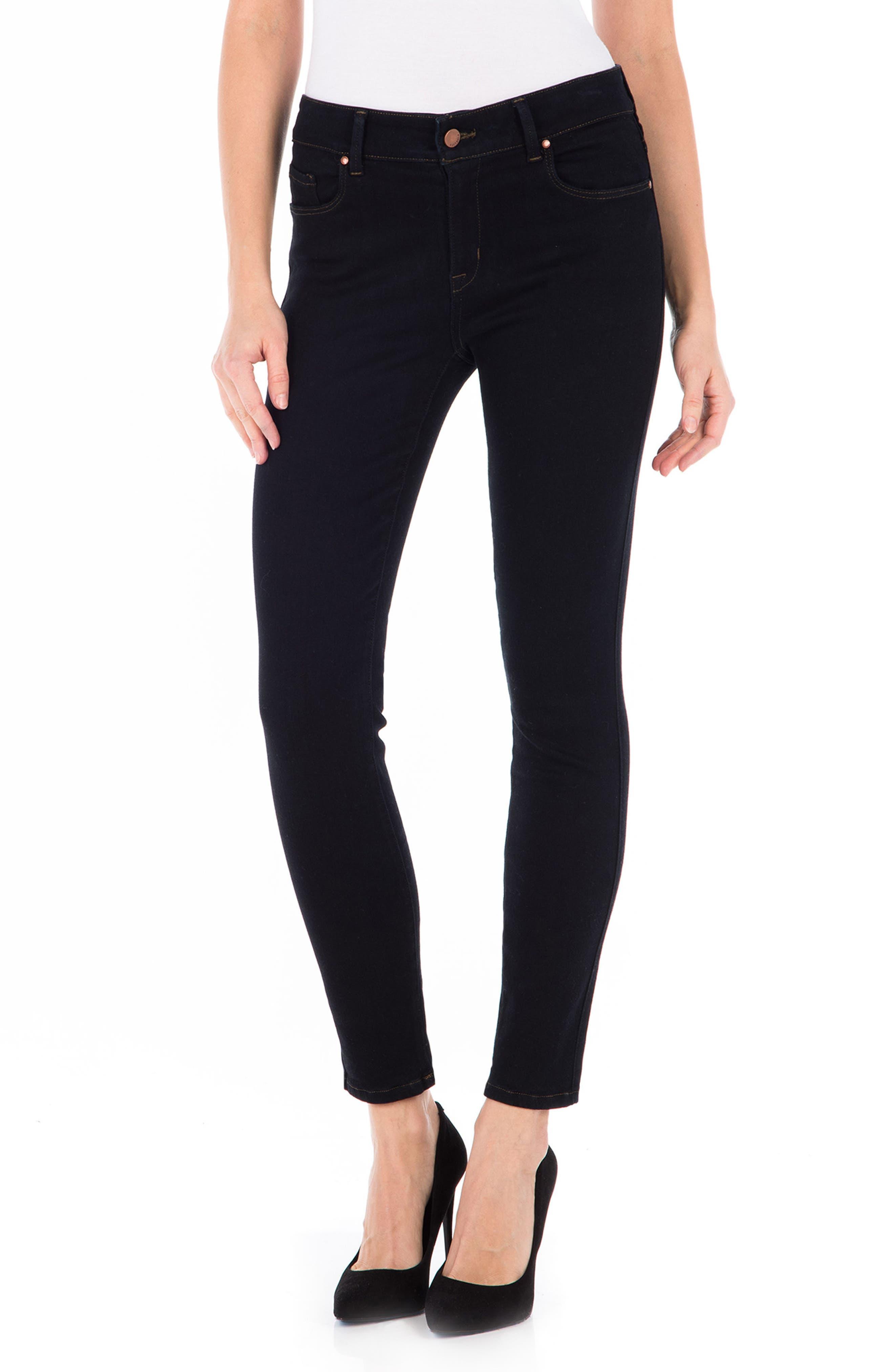 Sola Skinny Jeans,                         Main,                         color, Navy Noir