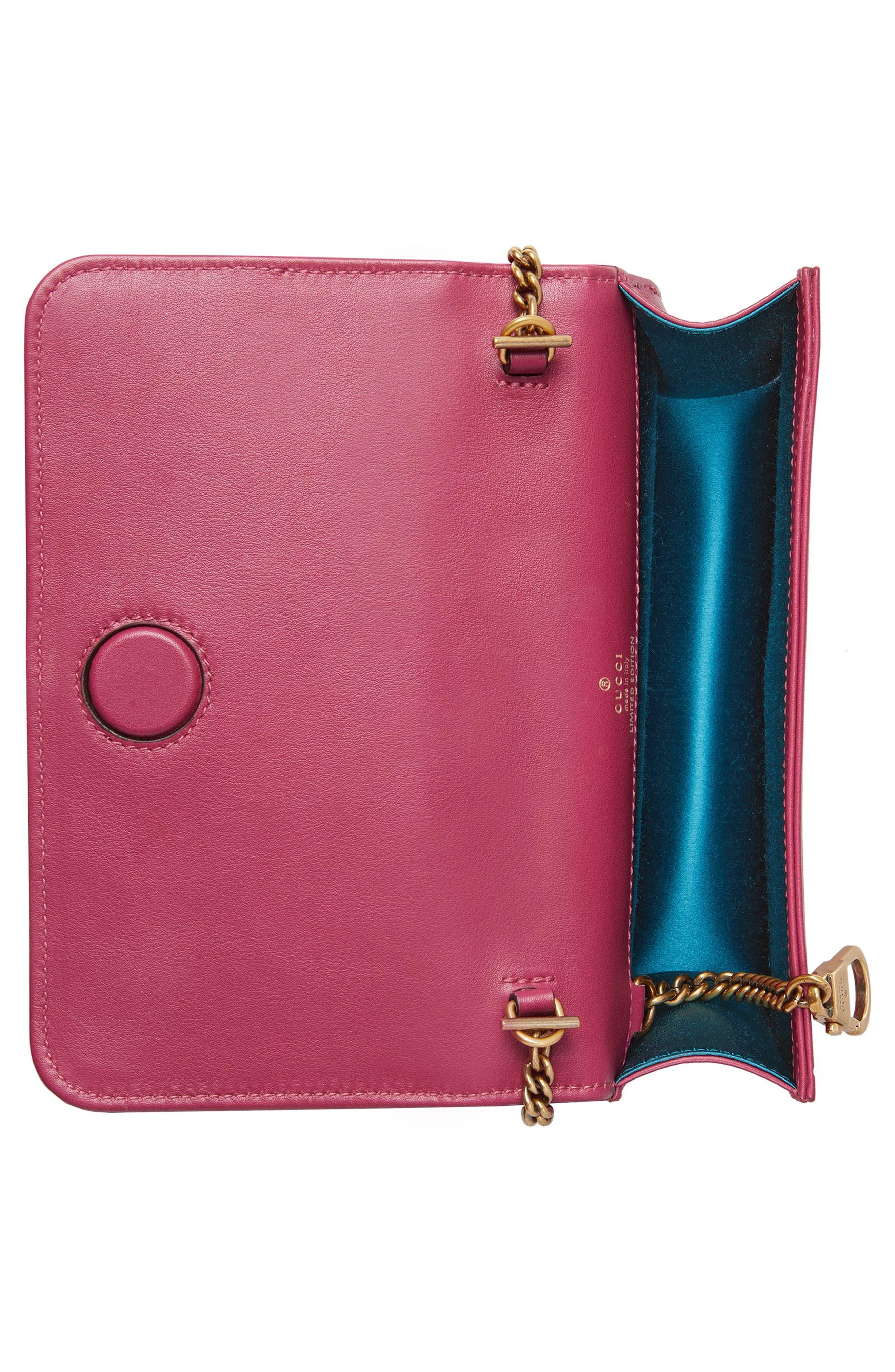 GG Marmont 2.0 Embellished Velvet Shoulder Bag,                             Alternate thumbnail 2, color,                             Light Raspberry/ Ivory