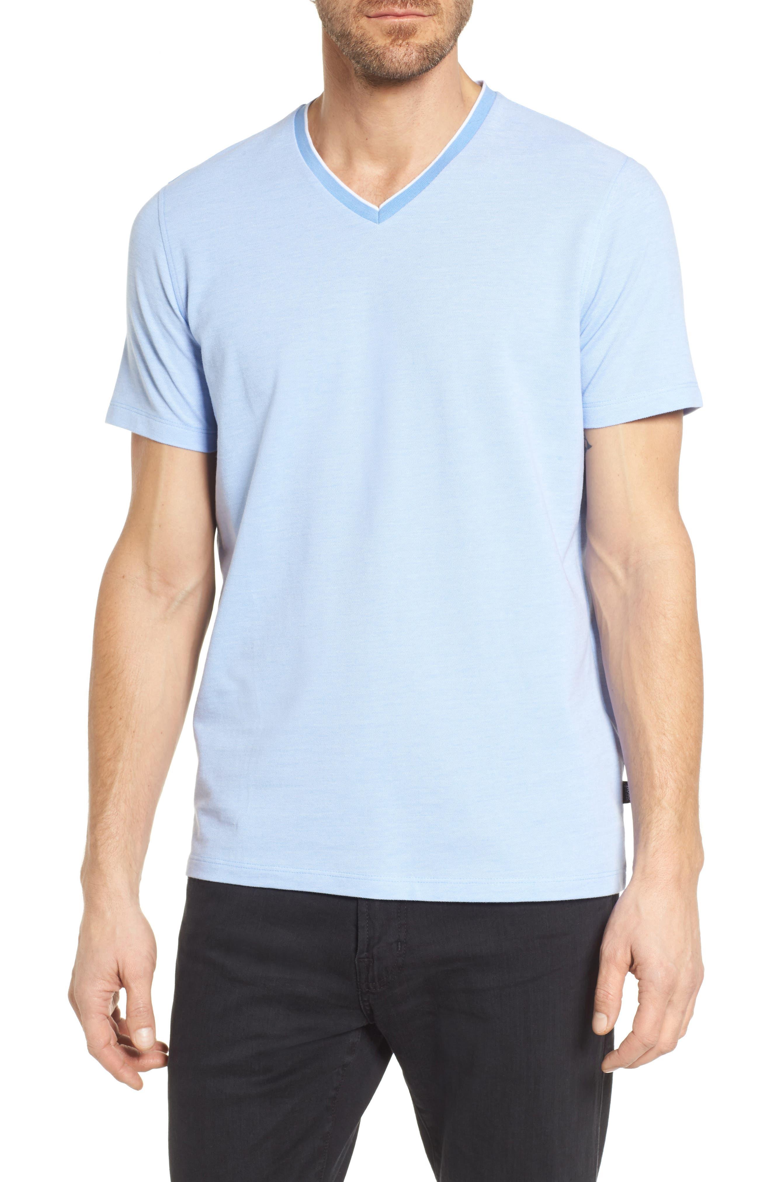 Tilson Slim Fit V-Neck T-Shirt,                         Main,                         color, Blue