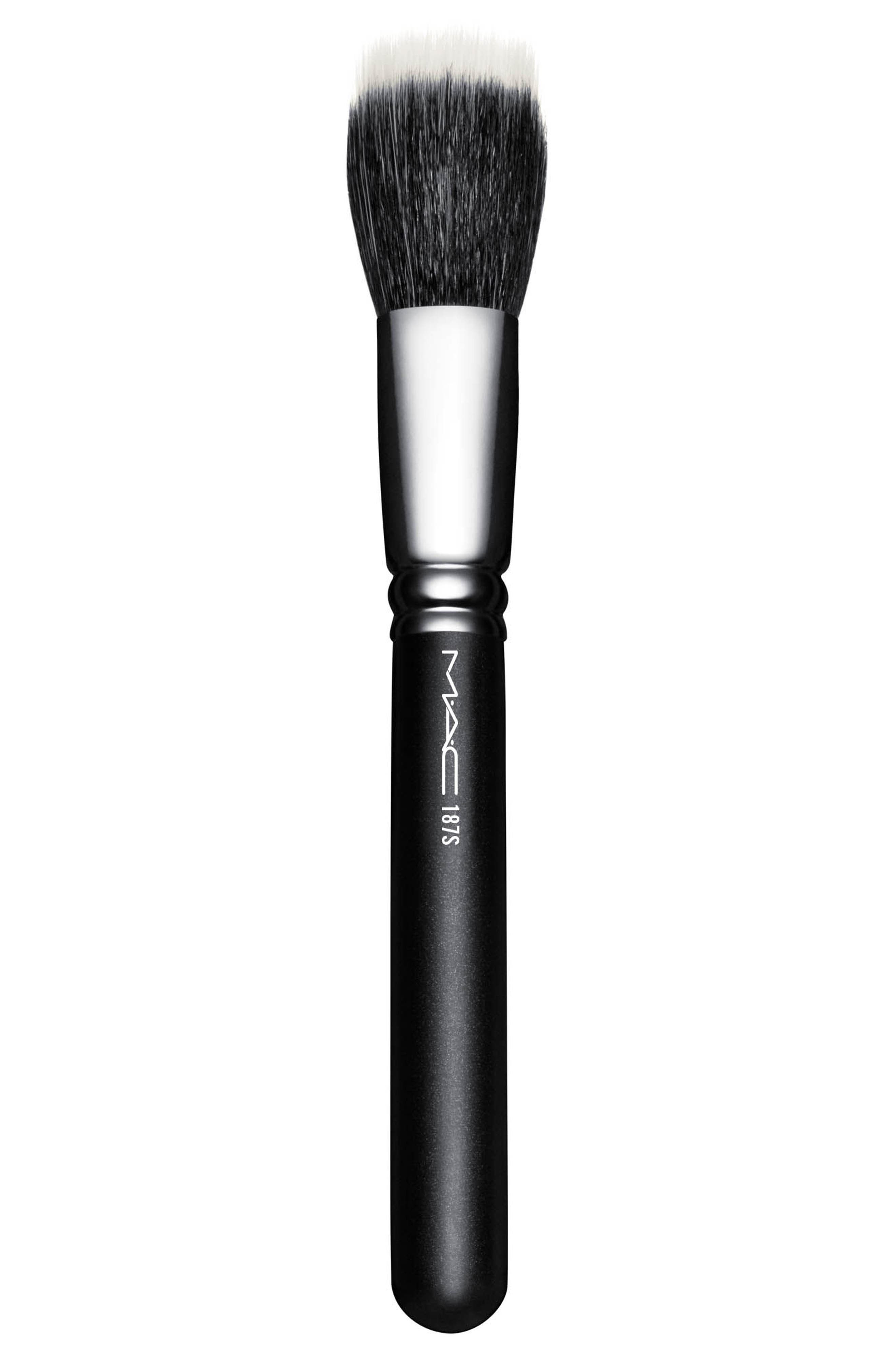 MAC 187S Synthetic Duo Fibre Face Brush,                             Main thumbnail 1, color,                             No Color