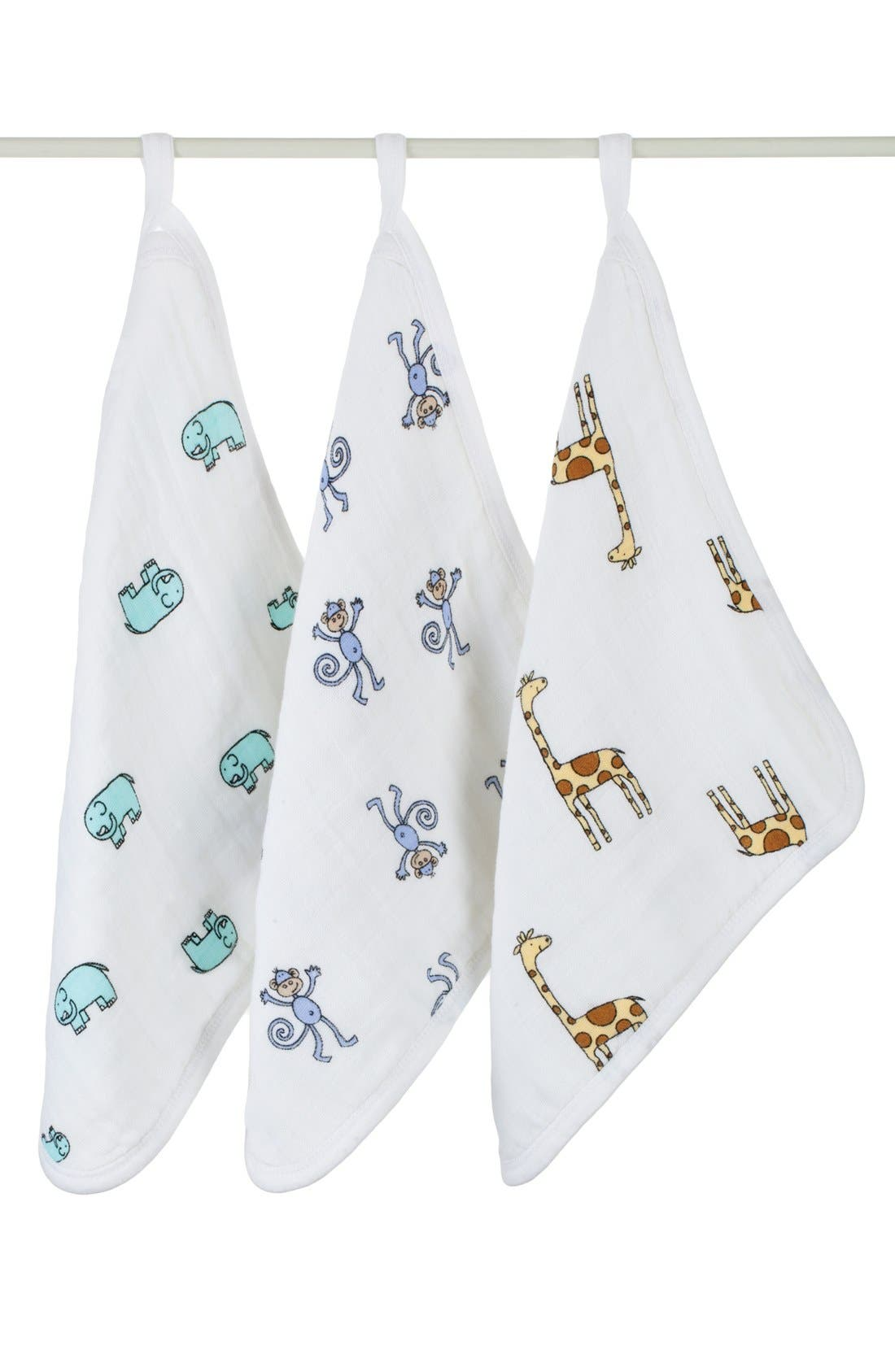 Alternate Image 1 Selected - aden + anais Classic Washcloth Set (3-Pack)
