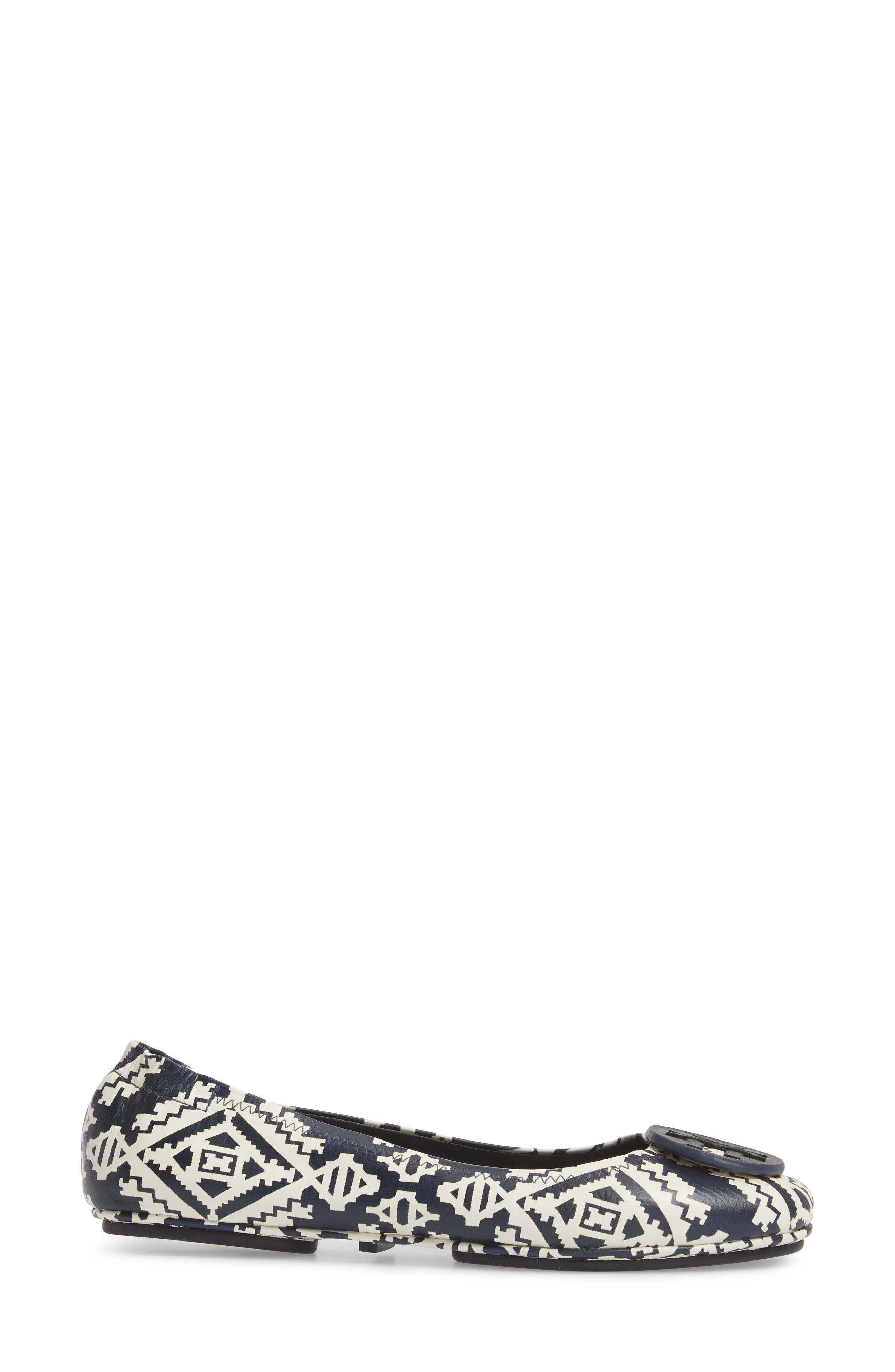 'Minnie' Travel Ballet Flat,                             Alternate thumbnail 3, color,                             Tapestry Geo
