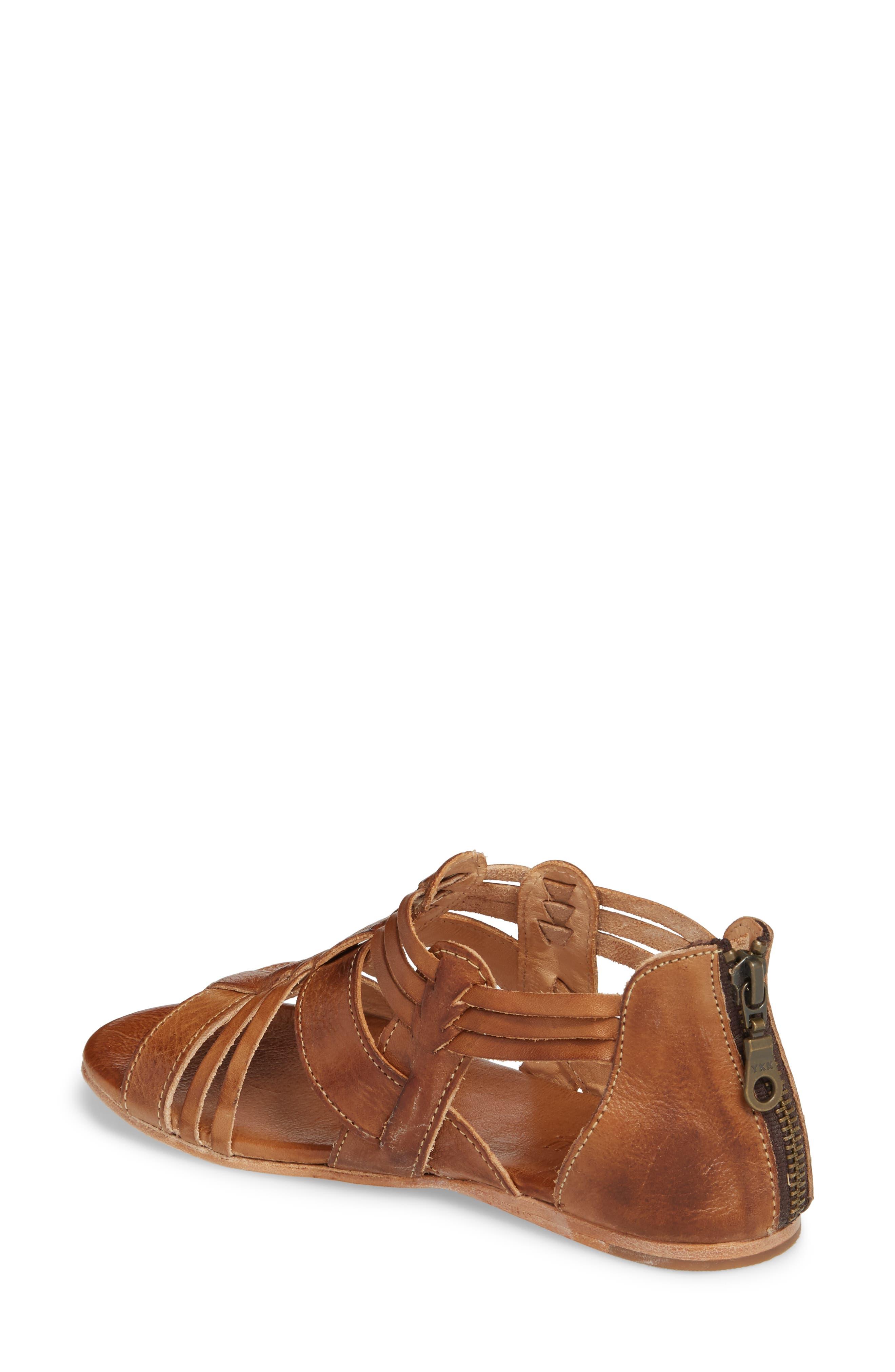 Cara Sandal,                             Alternate thumbnail 2, color,                             Tan Leather