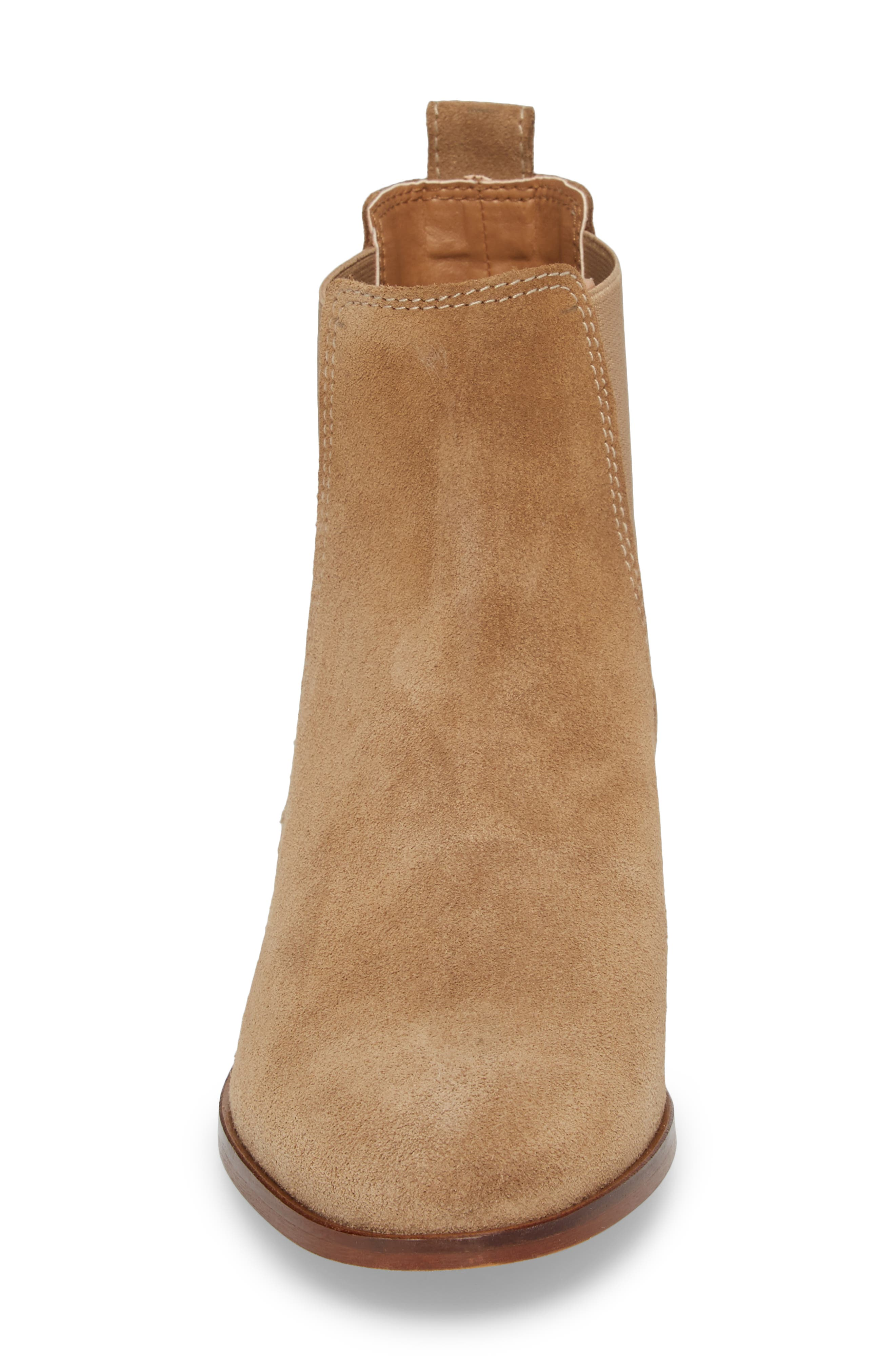 Dover Chelsea Bootie,                             Alternate thumbnail 4, color,                             Taupe Suede