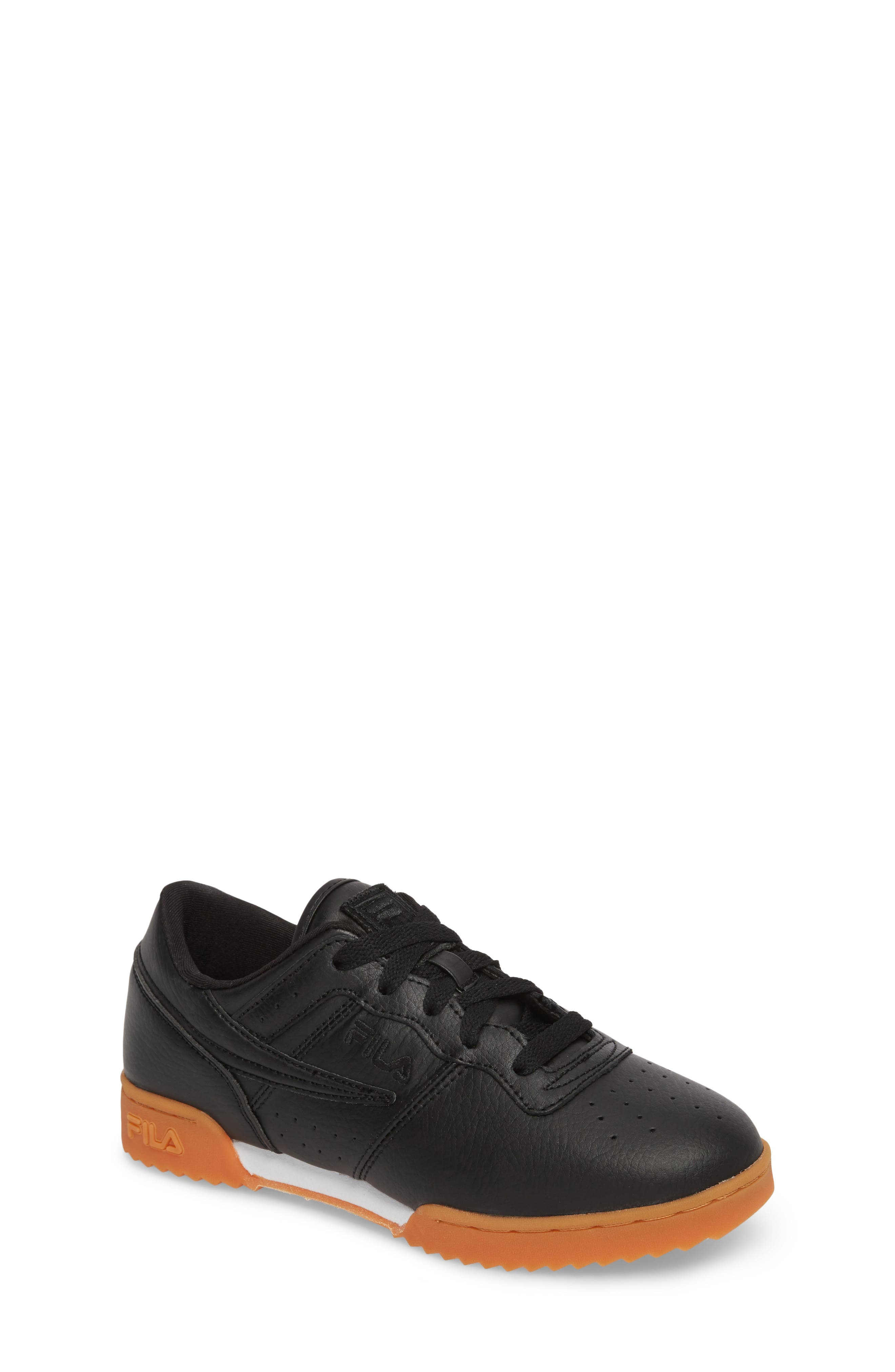 Original Fitness Sneaker,                             Main thumbnail 1, color,                             Black/ Gum