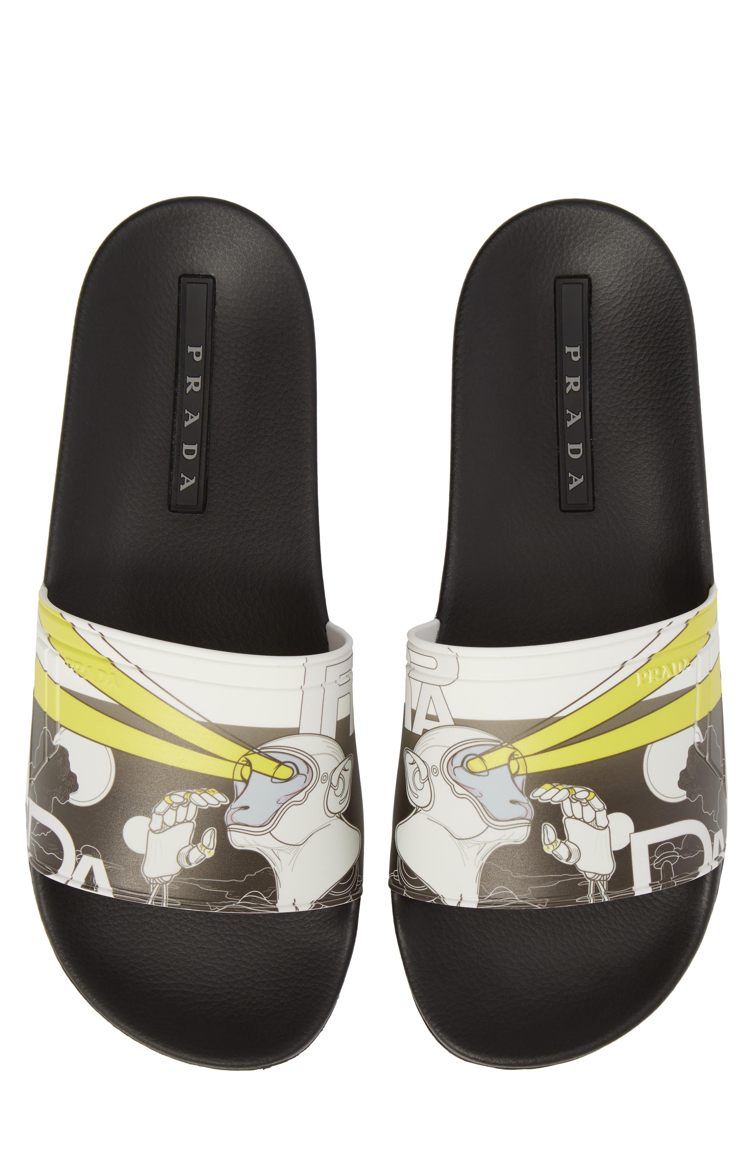 Alternate Image 1 Selected - Prada Linea Rossa Comic Print Slide Sandal (Men)