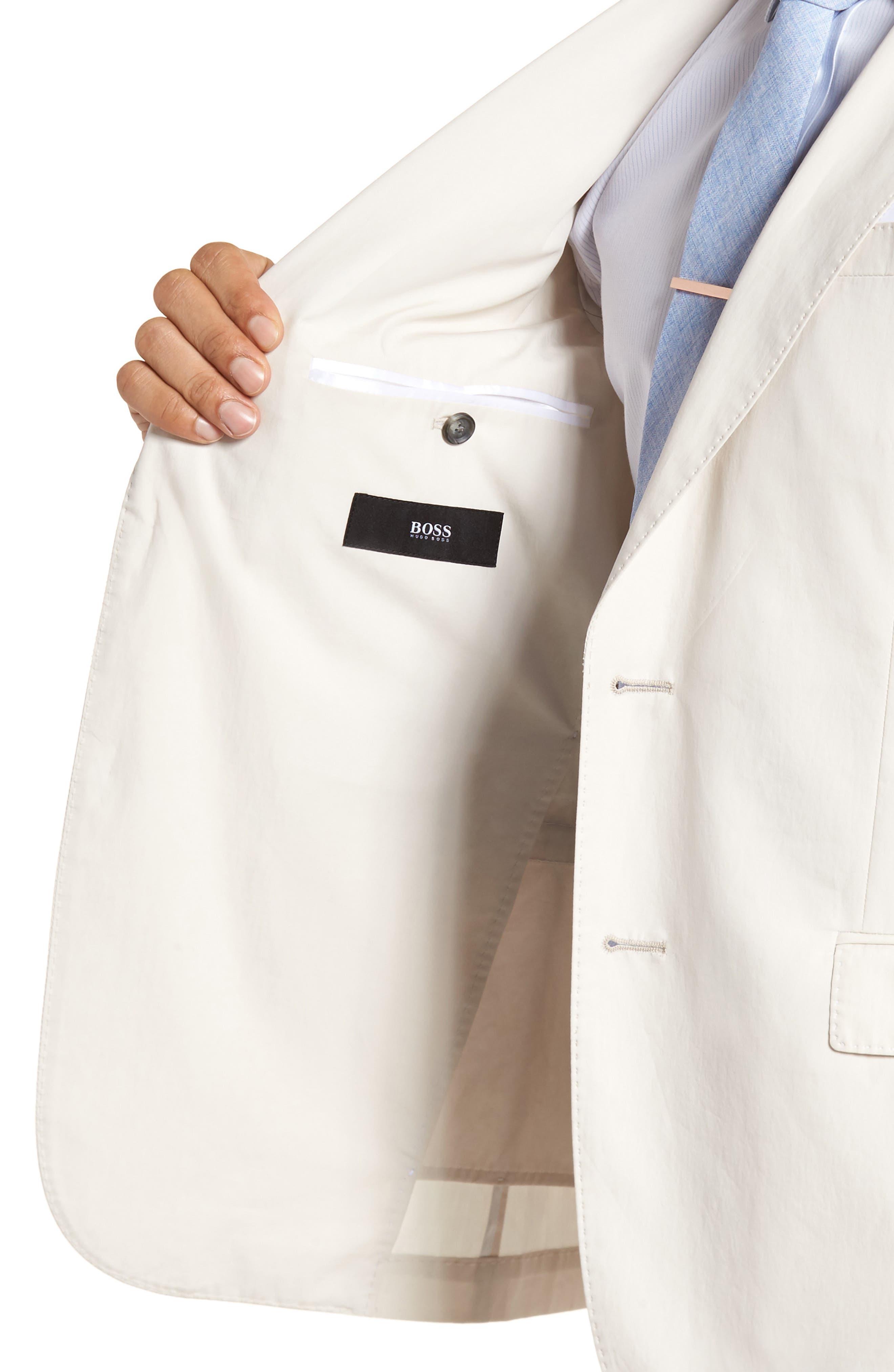 Nylen/Perry Trim Fit Solid Cotton Suit,                             Alternate thumbnail 4, color,                             Ivory