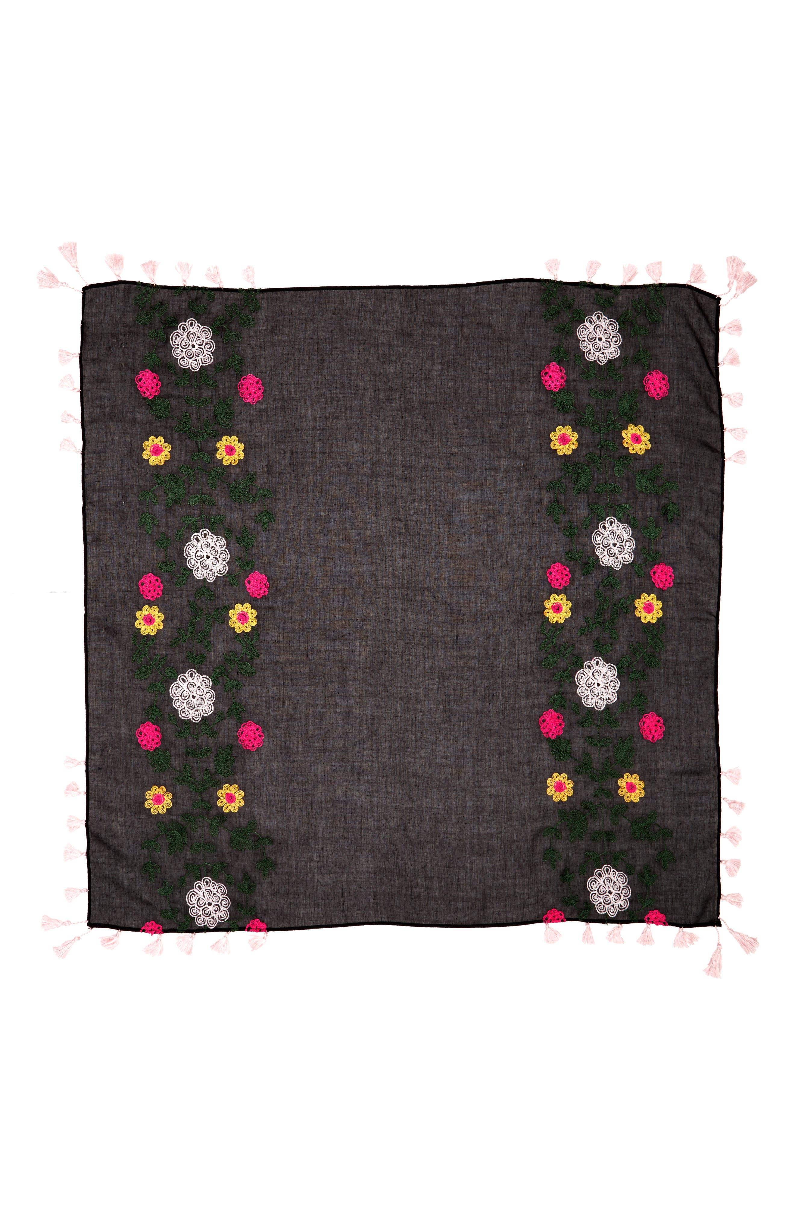 Alternate Image 2  - Rebecca Minkoff Embroidered Square Scarf