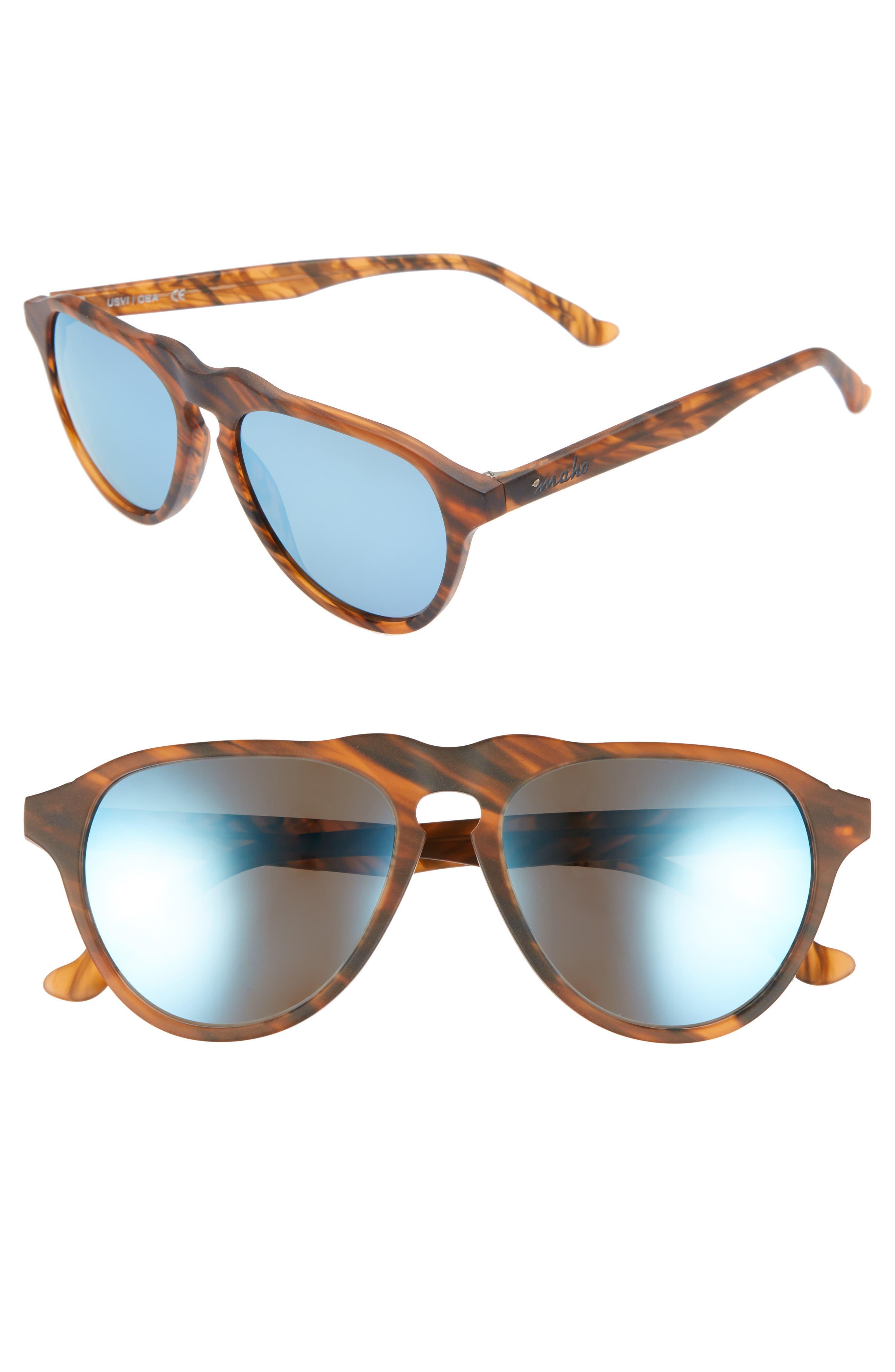 Nashville 54mm Polarized Aviator Sunglasses,                         Main,                         color, Whisky
