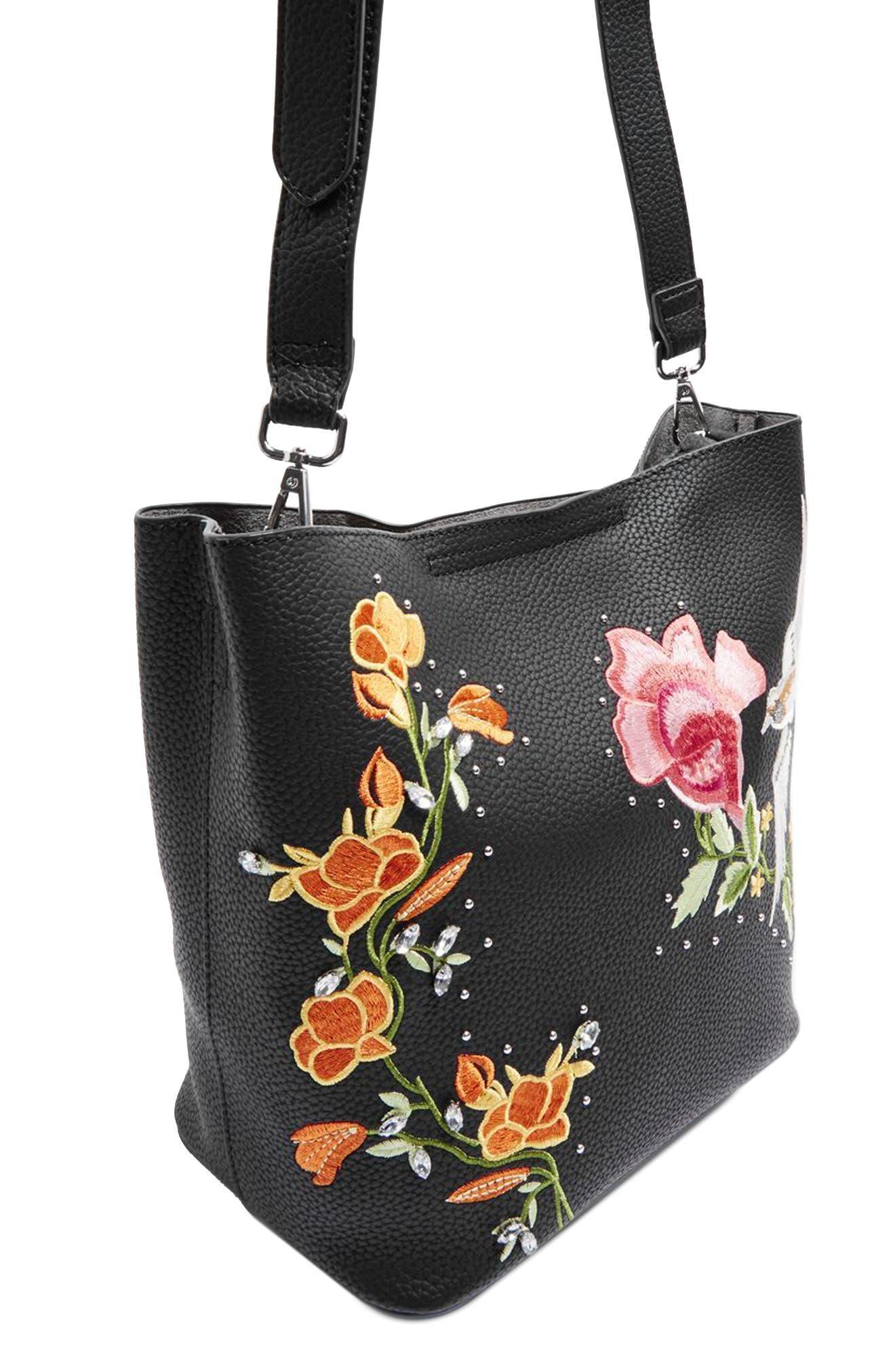 Alternate Image 4  - Topshop Embellished Faux Leather Tote Bag