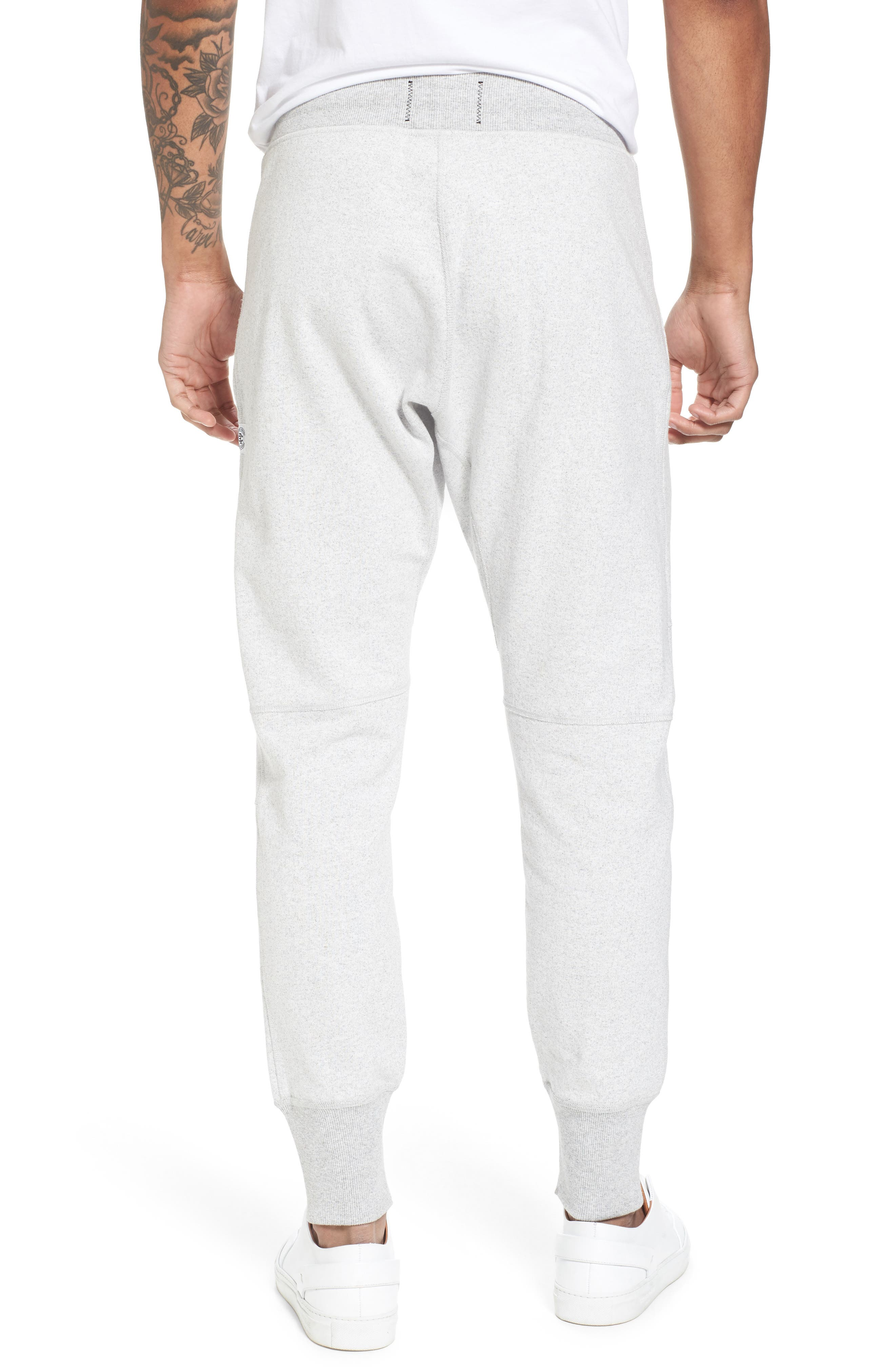 Slim Fit Heavyweight Sweatpants,                             Alternate thumbnail 2, color,                             Chalk