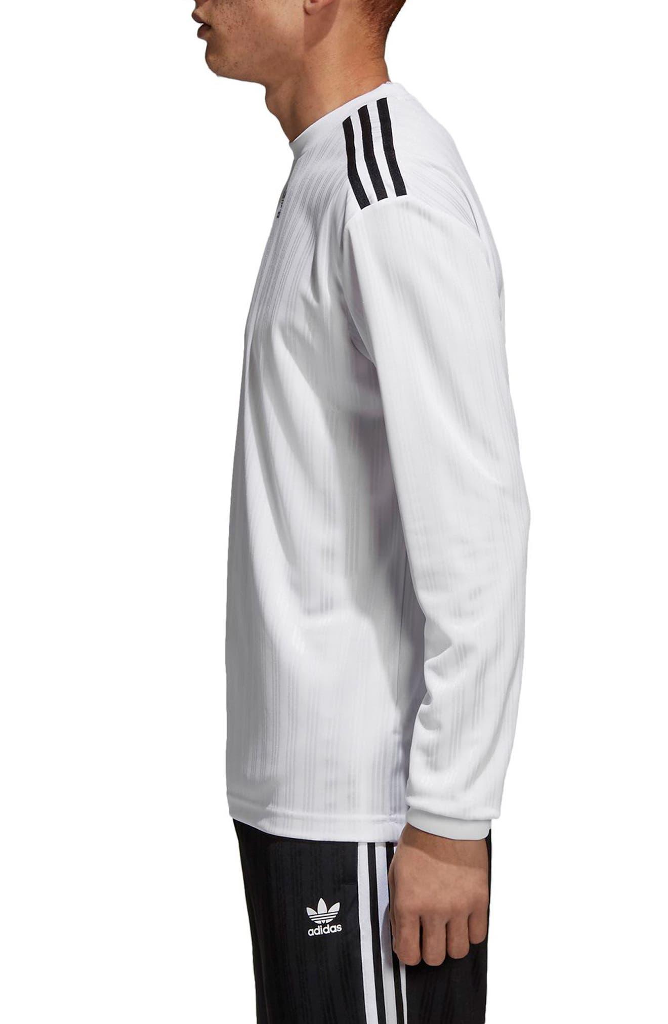 Long Sleeve Jersey Shirt,                             Alternate thumbnail 3, color,                             White