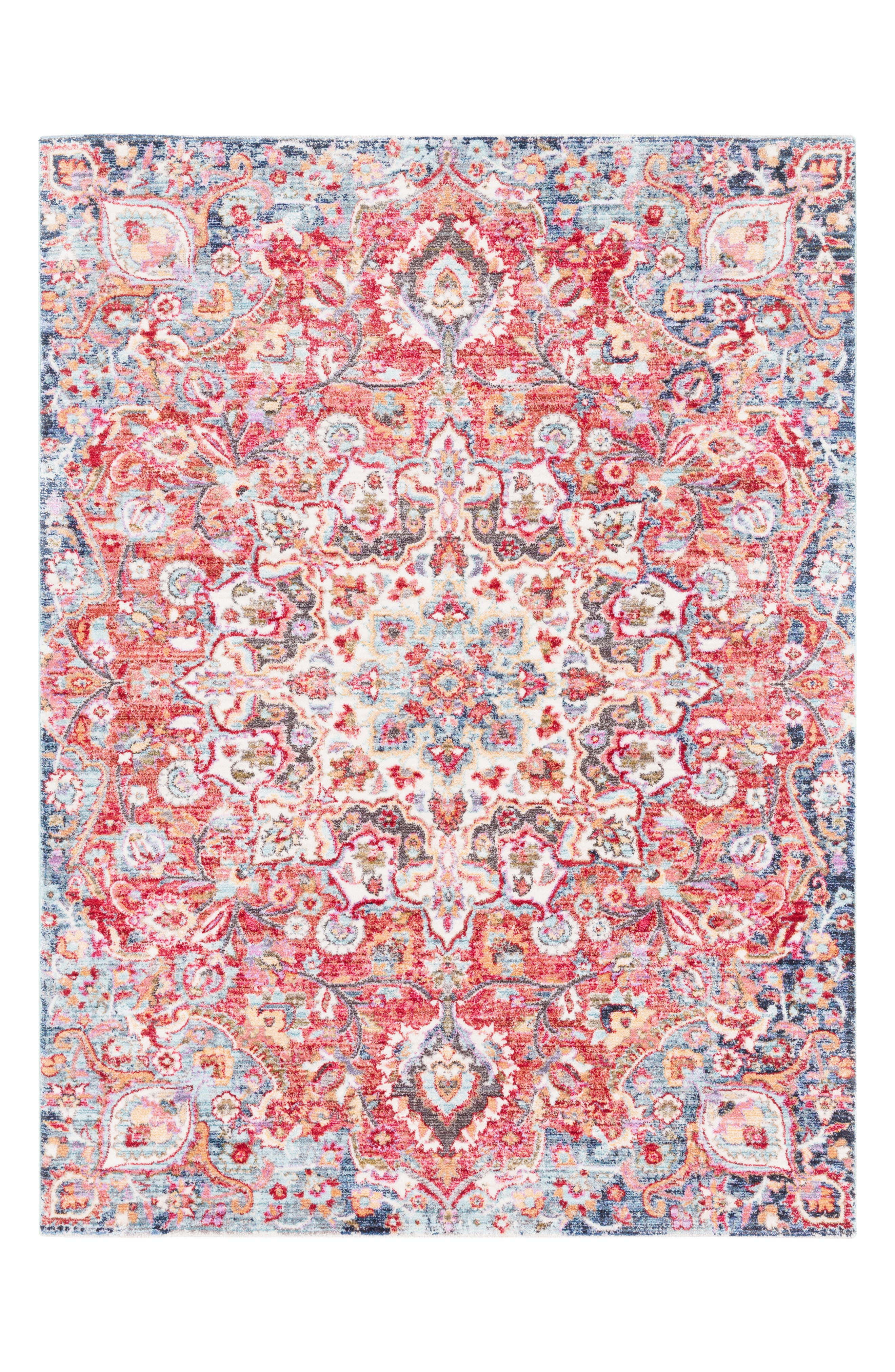 Rumi Area Rug,                         Main,                         color, Red