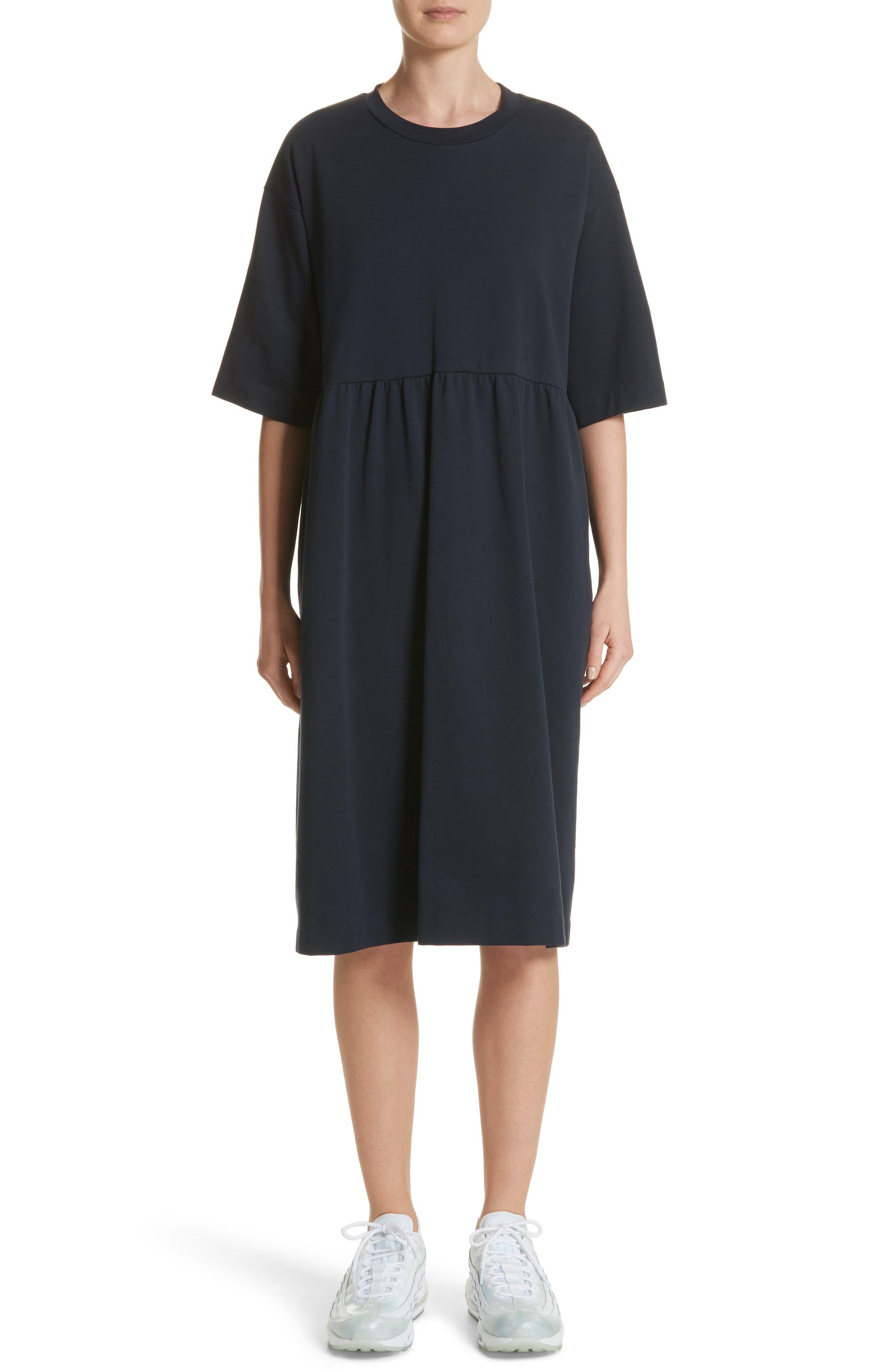 T-Shirt Dress,                             Main thumbnail 1, color,                             Navy