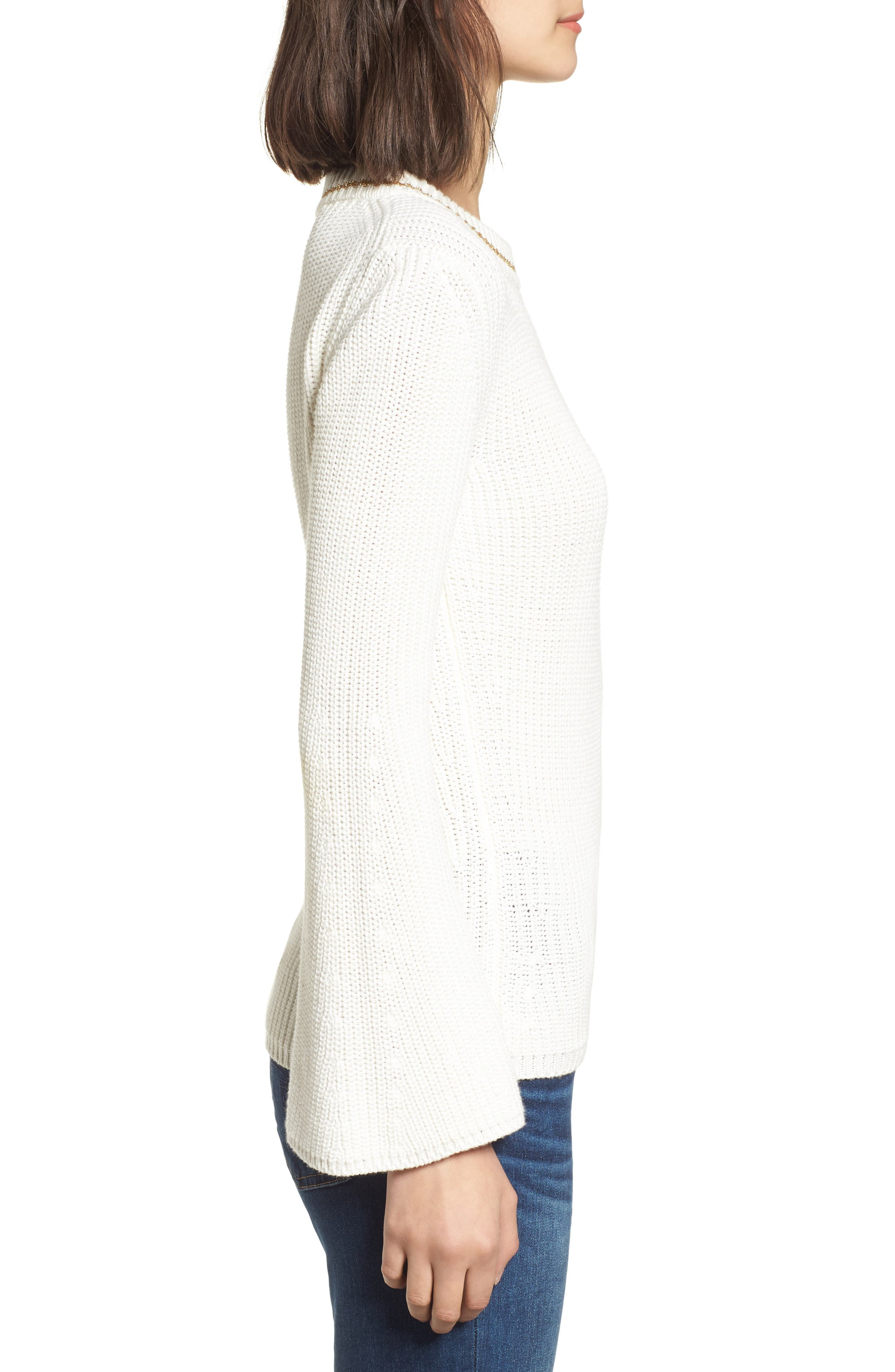 Coco Sweater,                             Alternate thumbnail 3, color,                             White