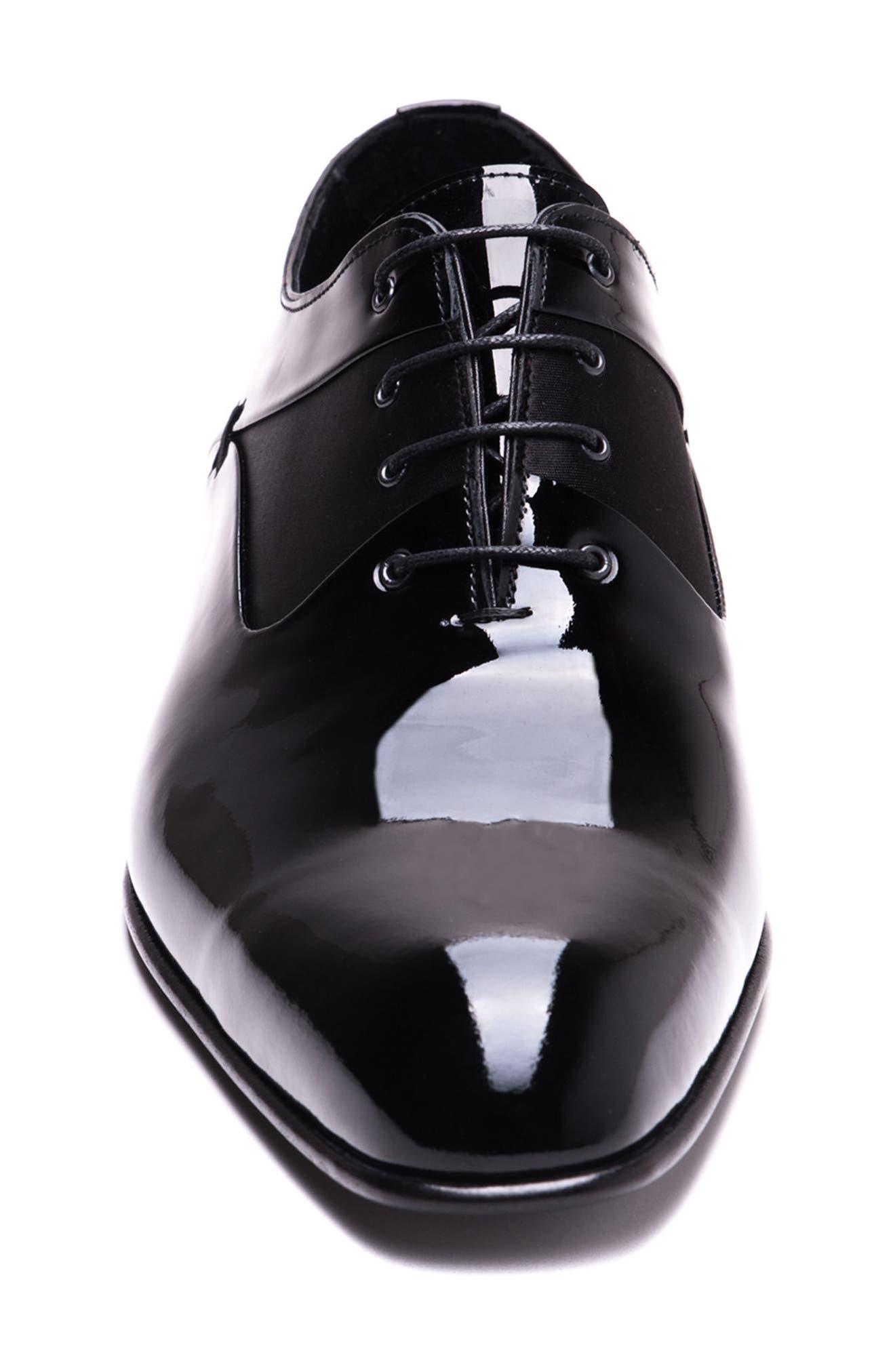 Ricci Plain Toe Oxford,                             Alternate thumbnail 4, color,                             Black