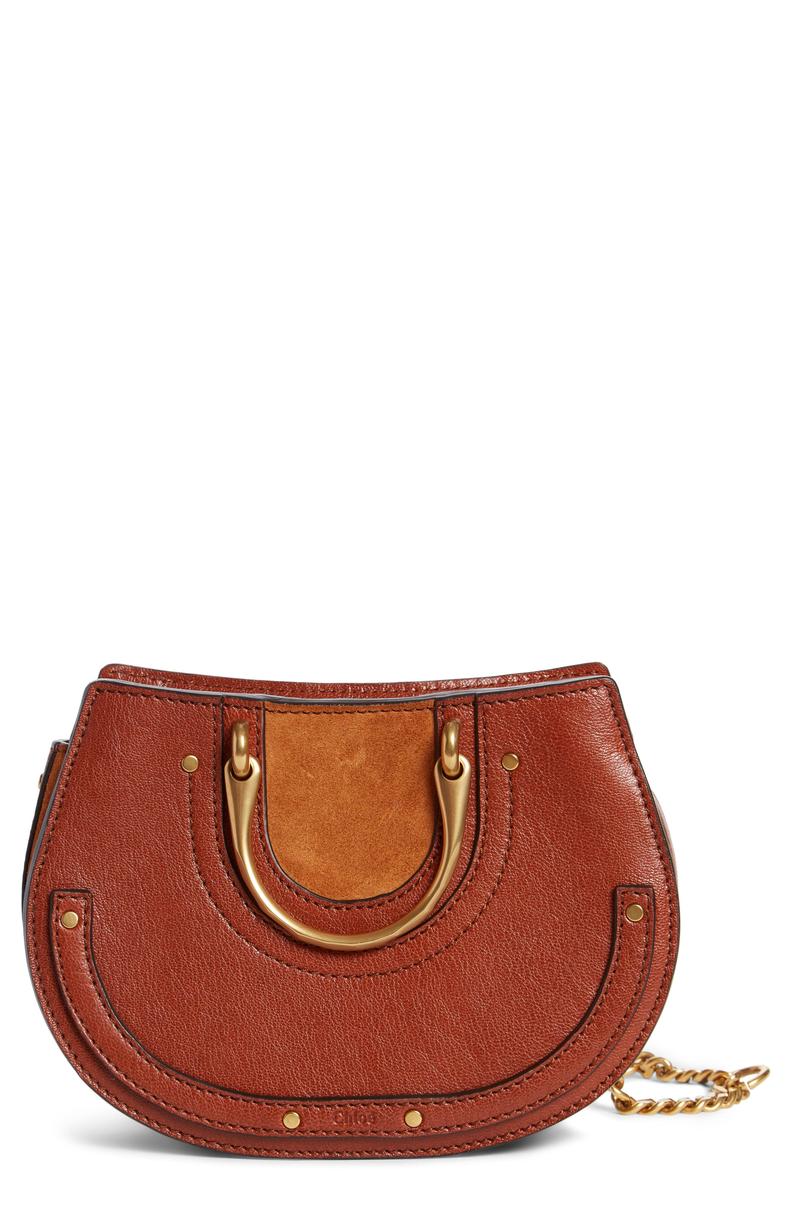 Chloé Micro Pixie Leather Top Handle Satchel