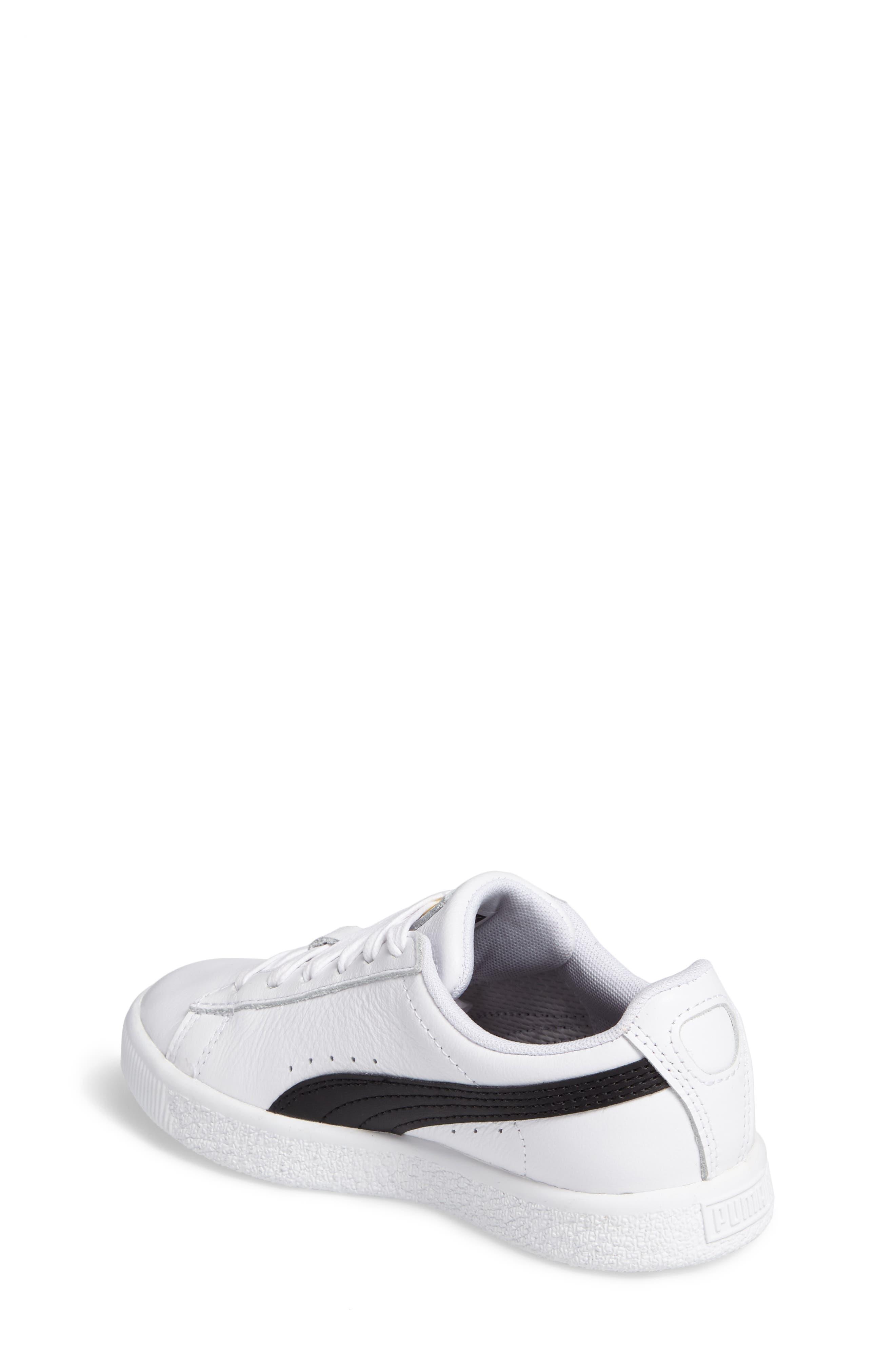 Alternate Image 2  - PUMA Clyde Core Foil Sneaker (Toddler, Little Kid & Big Kid)
