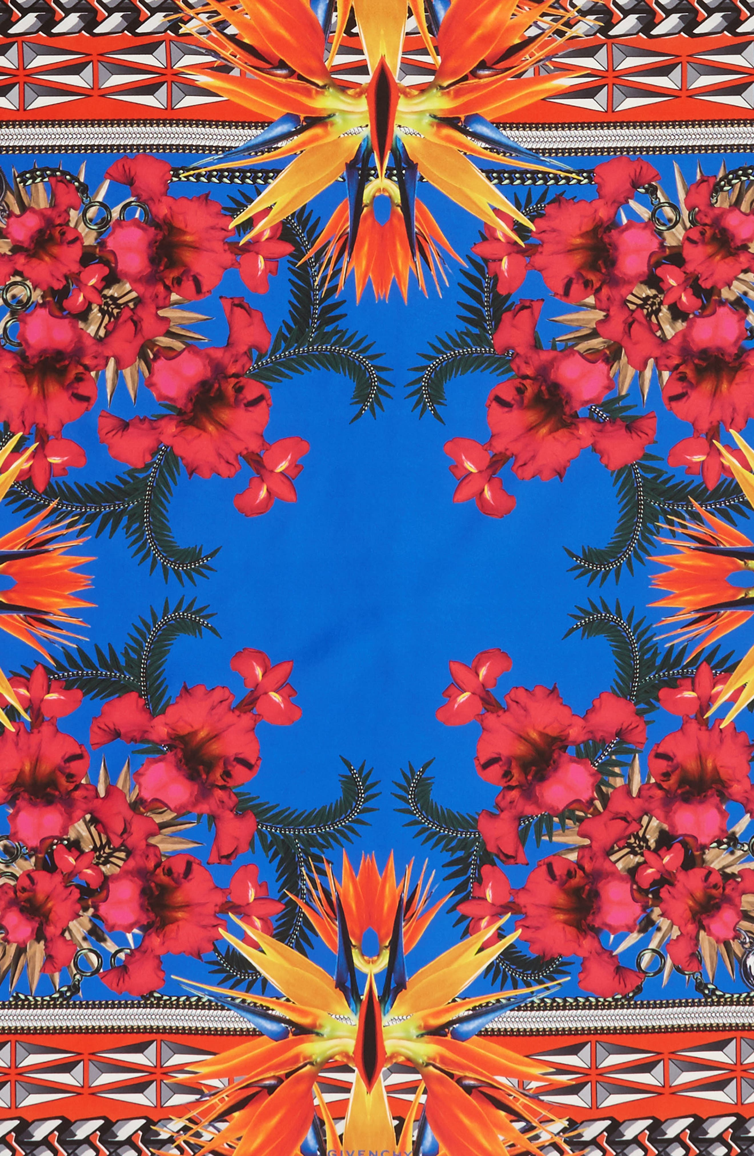 Alternate Image 4  - Givenchy Iris Silk Twill Square Scarf