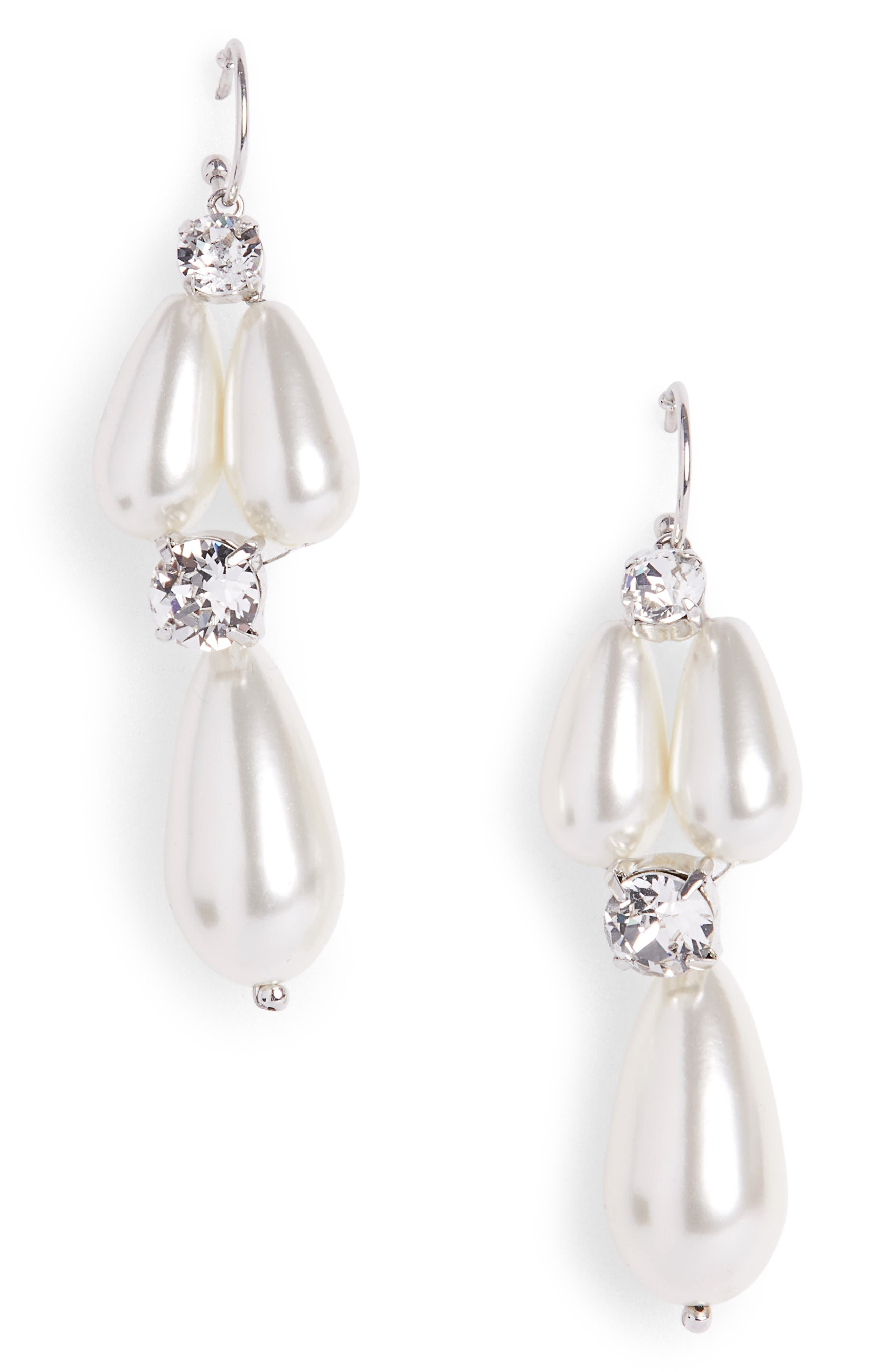 Main Image - Simone Rocha Short Imitation Pearl Drop Earrings