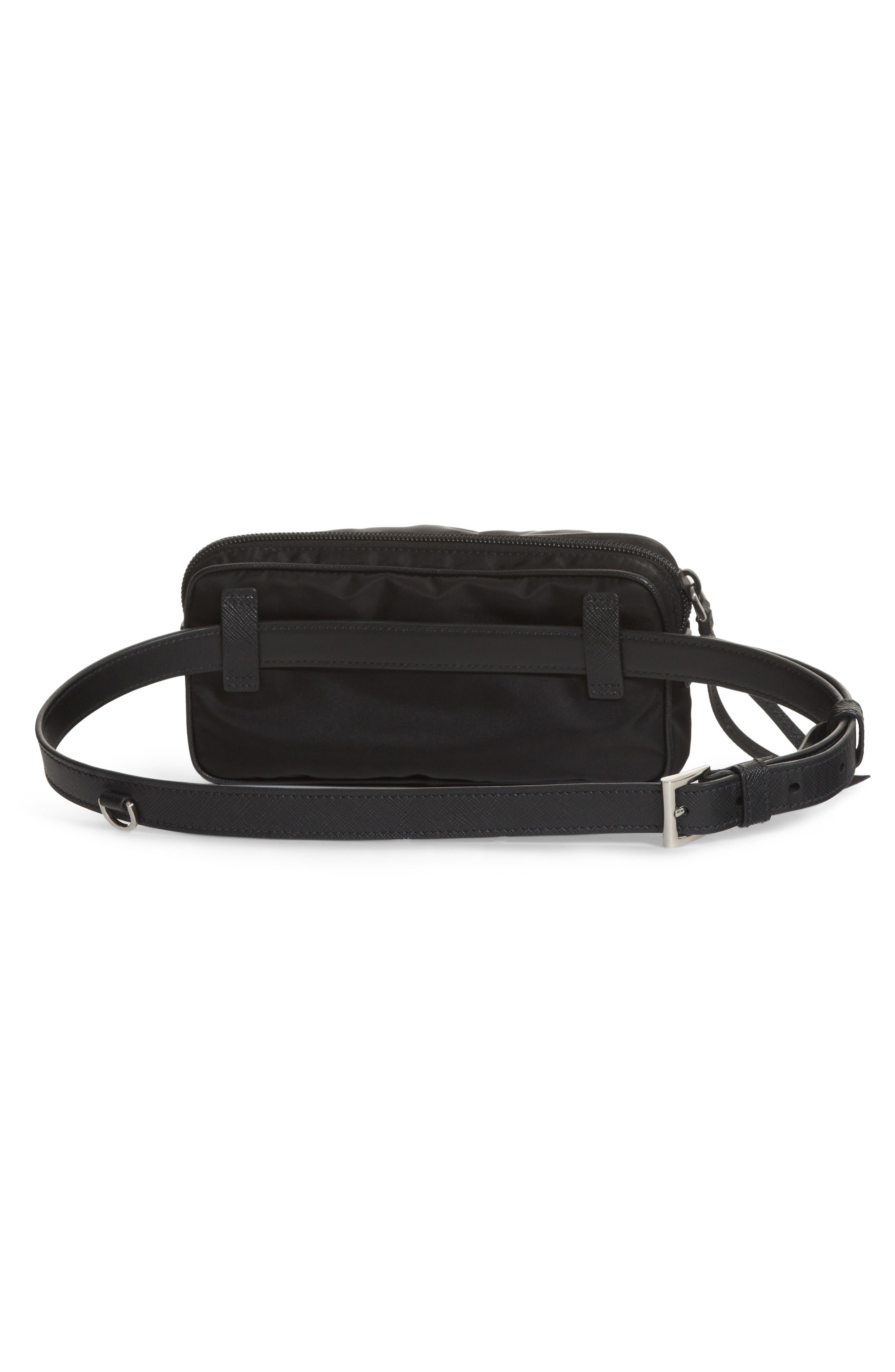 Small Nylon Belt Bag,                             Alternate thumbnail 2, color,                             Nero