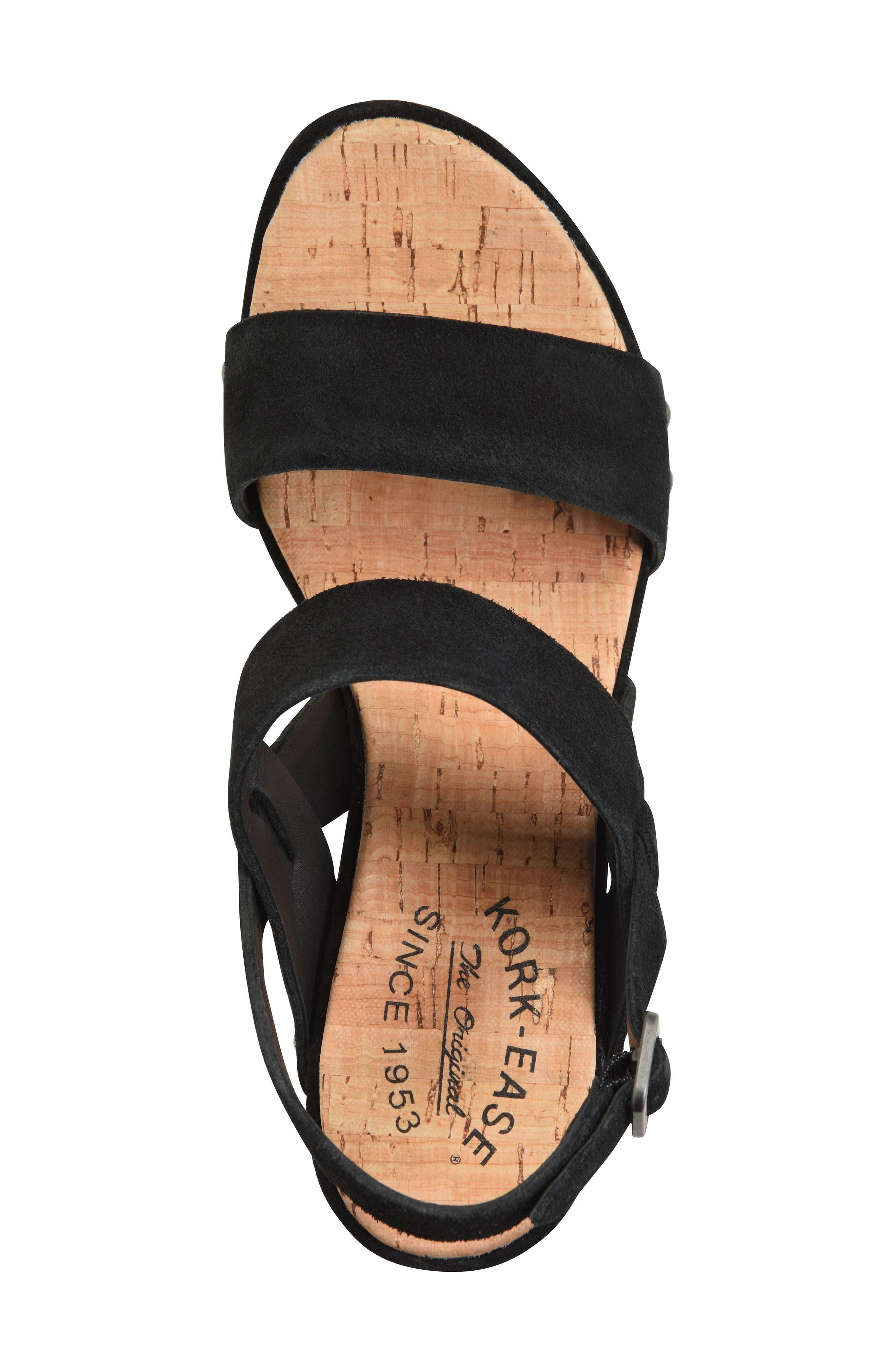 Palmdale Platform Sandal,                             Alternate thumbnail 5, color,                             Black Suede