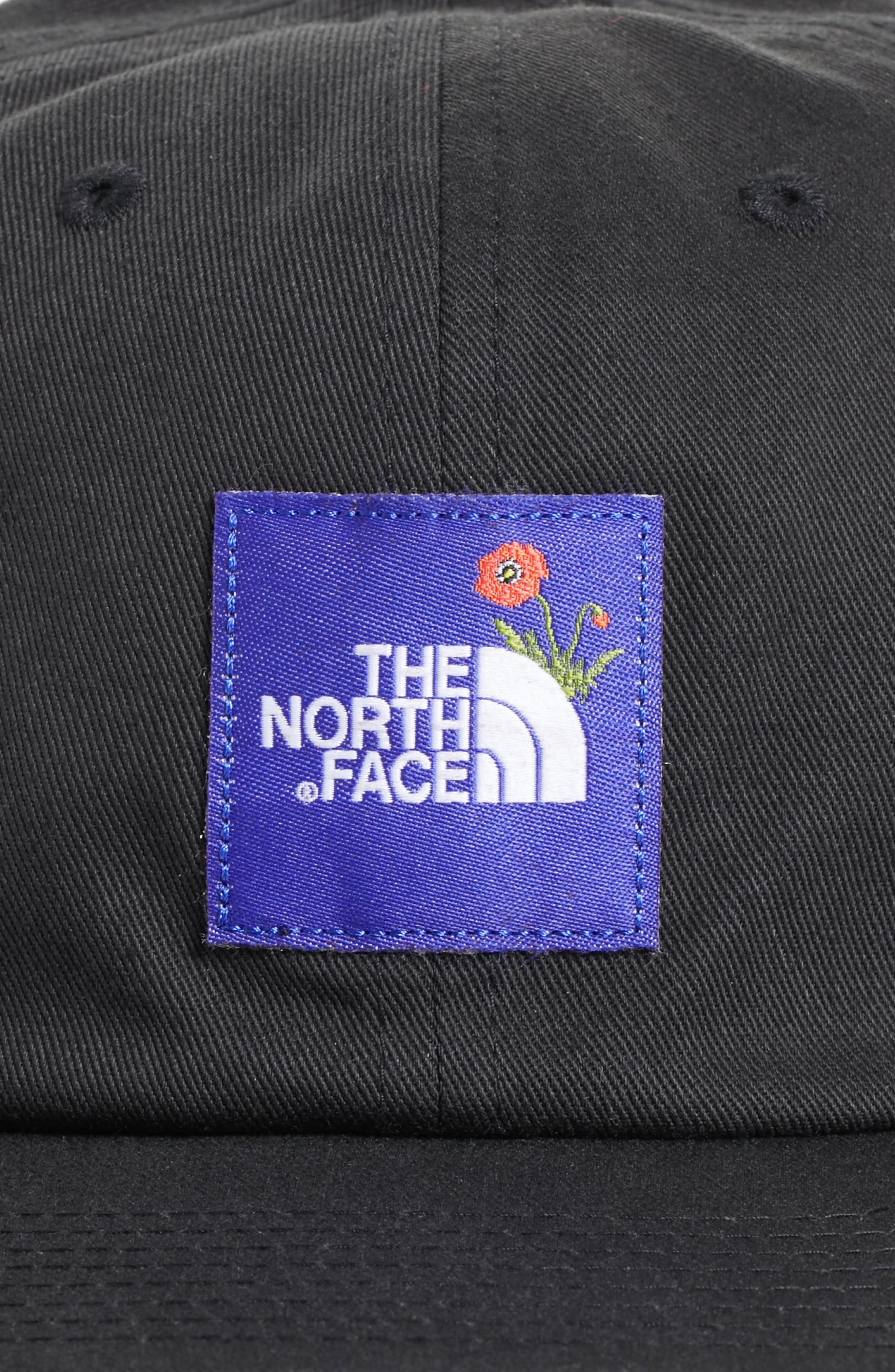 Poppy Adjustable Cap,                             Alternate thumbnail 4, color,                             Tnf Black