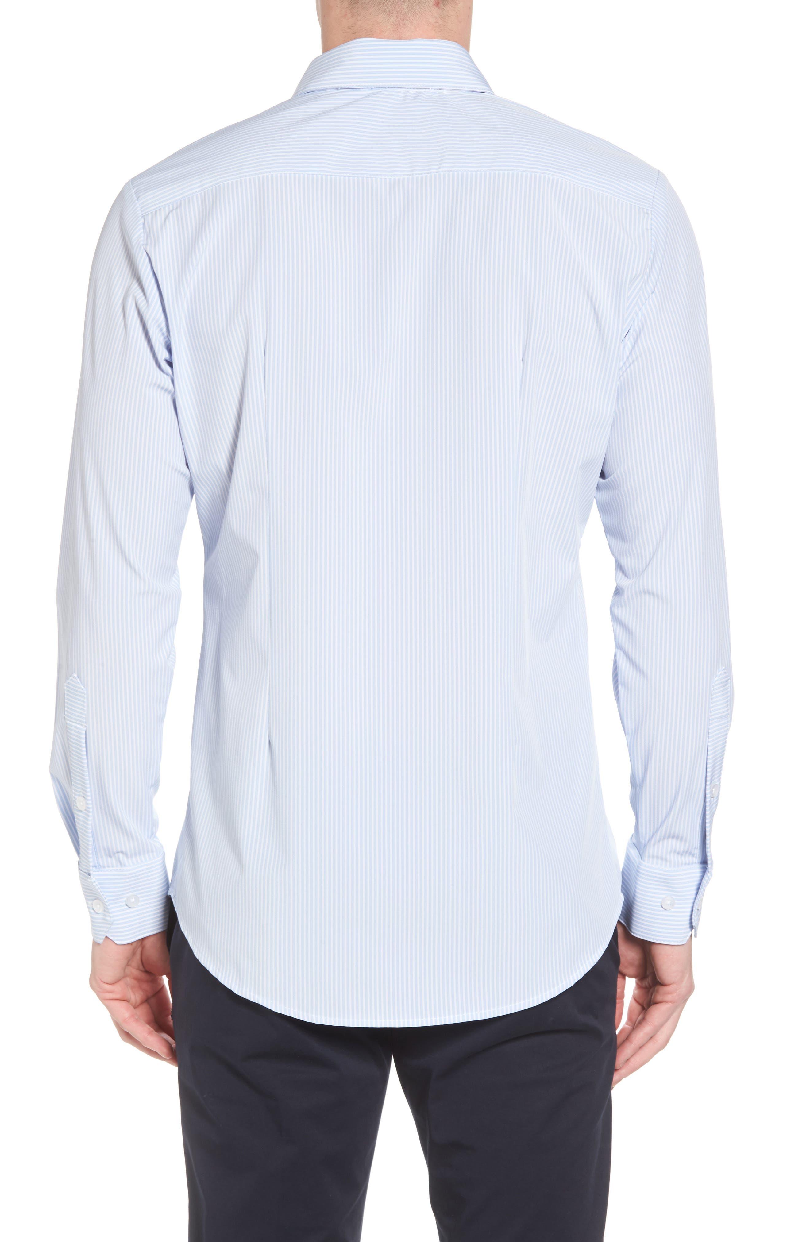 Caldwell Slim Fit Stripe Sport Shirt,                             Alternate thumbnail 2, color,                             Blue