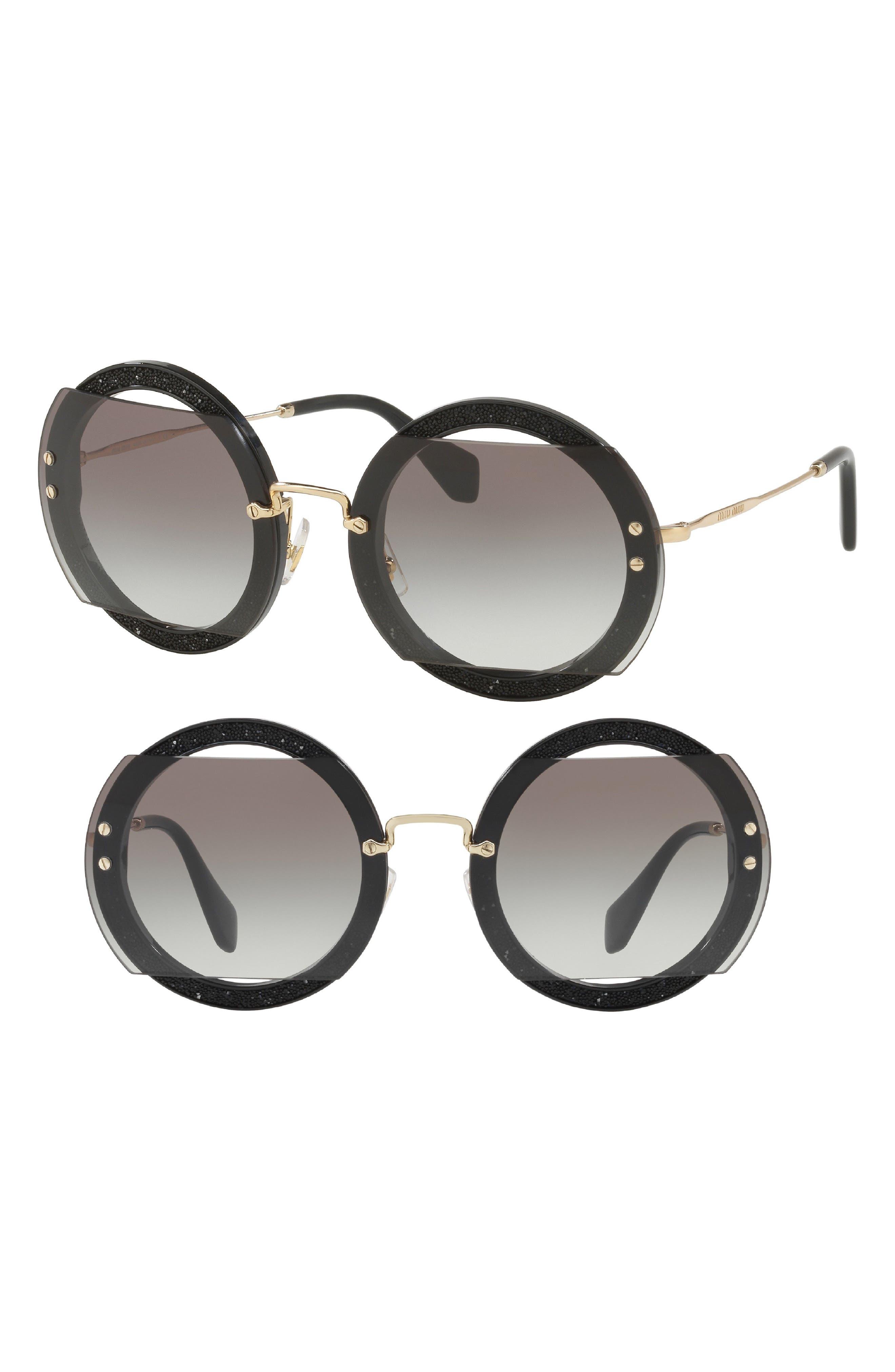 Miu Miu 63mm Retro Oversize Sunglasses