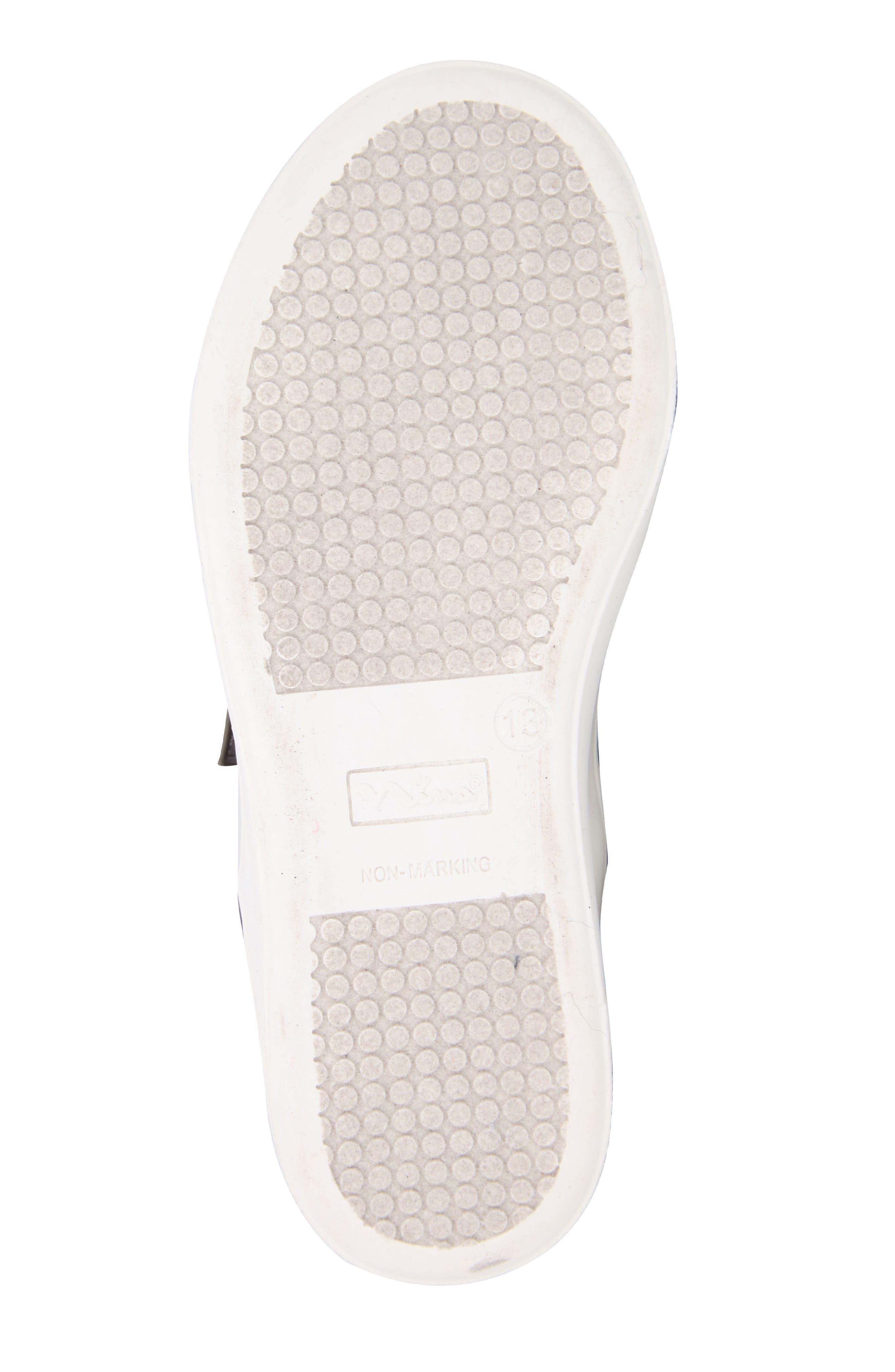 Pammela Glittery High Top Sneaker,                             Alternate thumbnail 5, color,                             Metallic Pewter