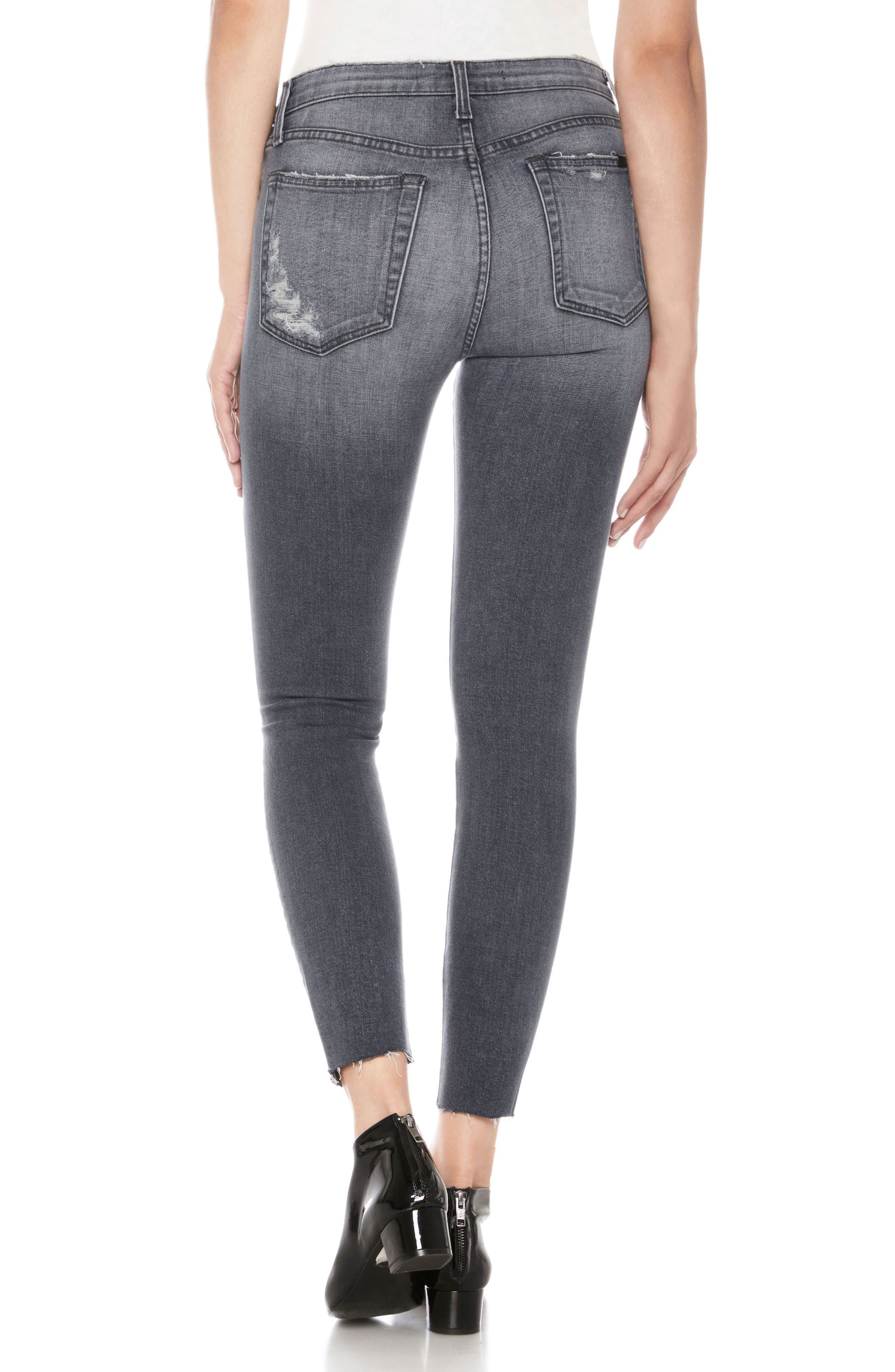 Charlie High Waist Ankle Skinny Jeans,                             Alternate thumbnail 2, color,                             Miray