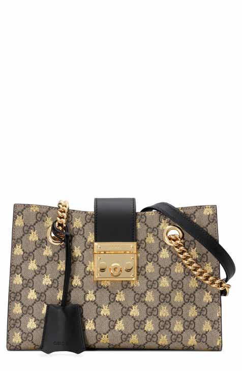 68b5c54492c Gucci Small Padlock GG Supreme Bee Shoulder Bag