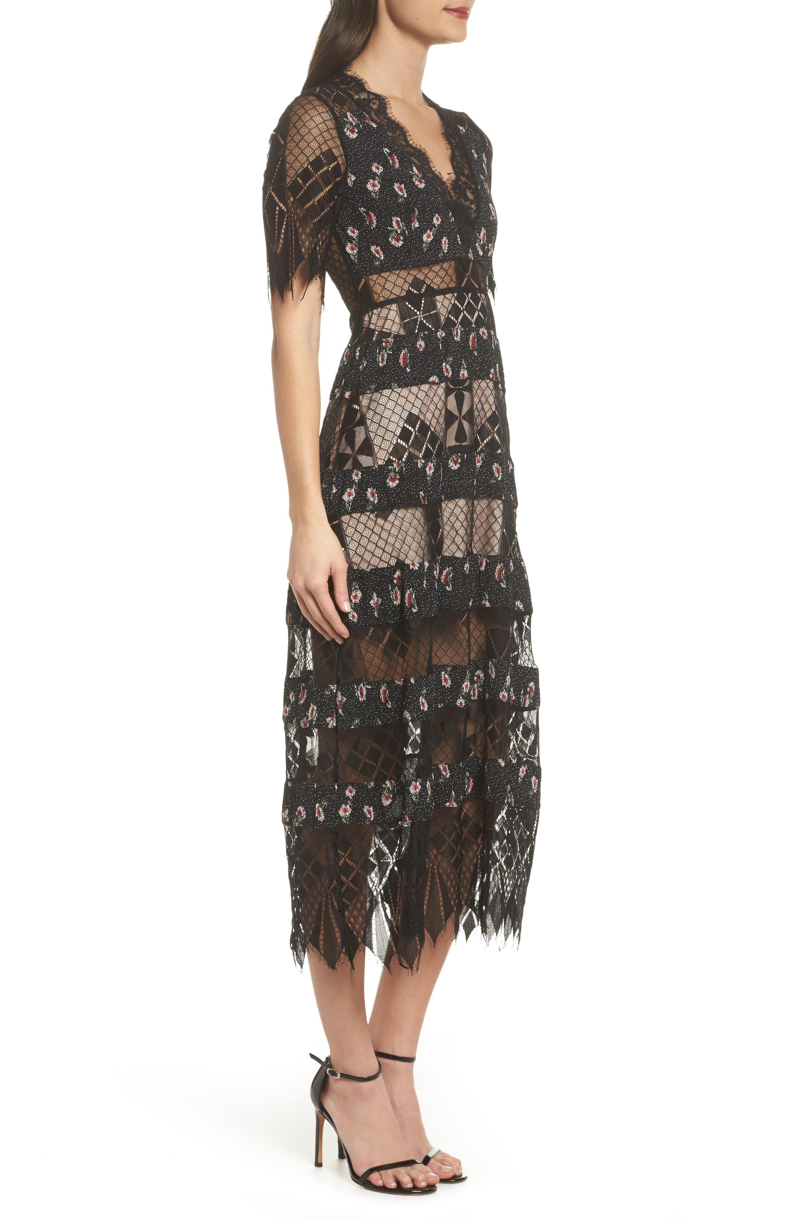 Alternate Image 4  - Foxiedox Sweetwater Stripe Midi Dress