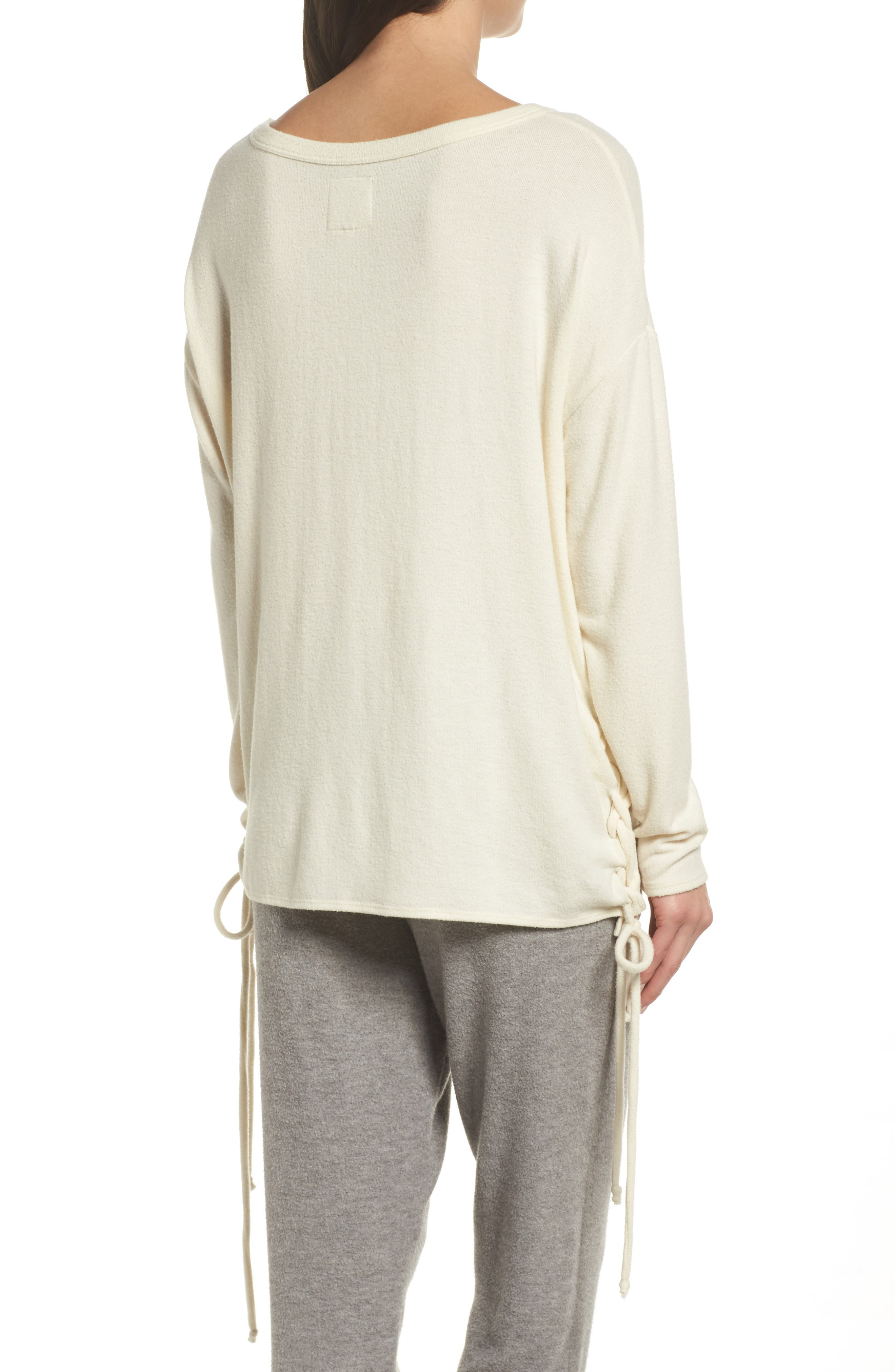 Alternate Image 2  - Chaser Lace-Up Side Pullover