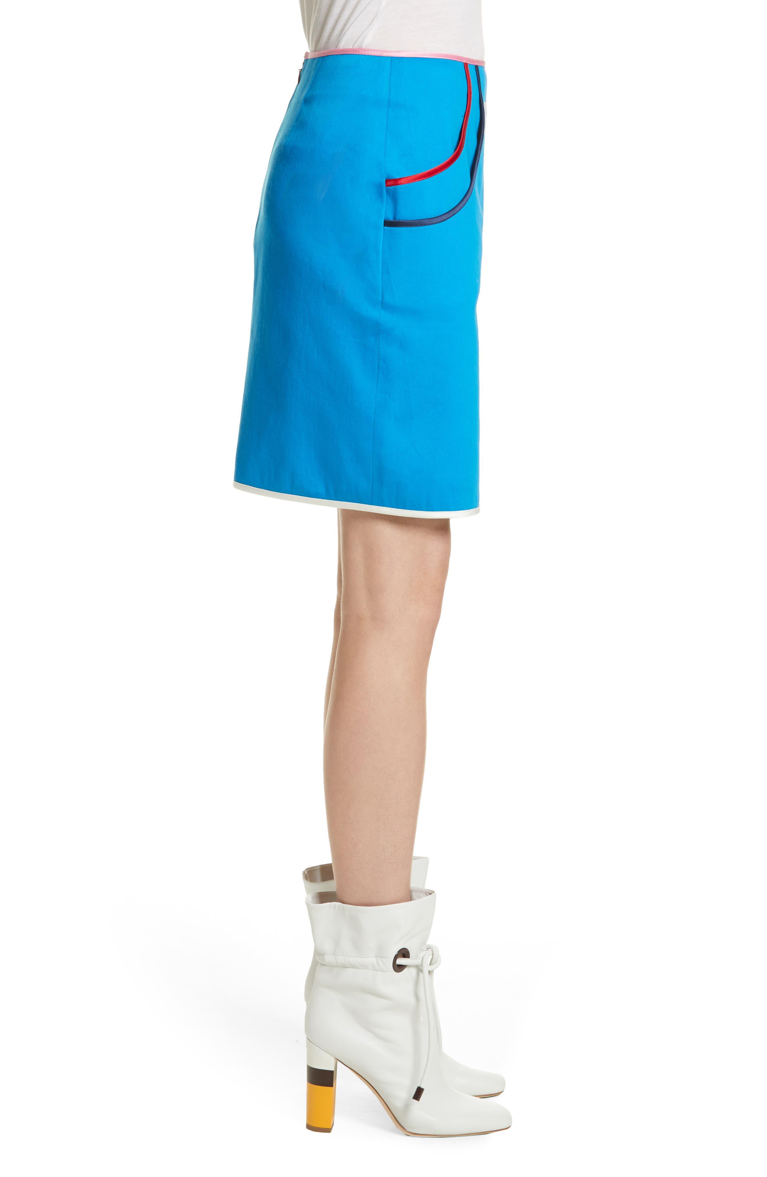 Alternate Image 3  - Harvey Faircloth Piping Detail Skirt