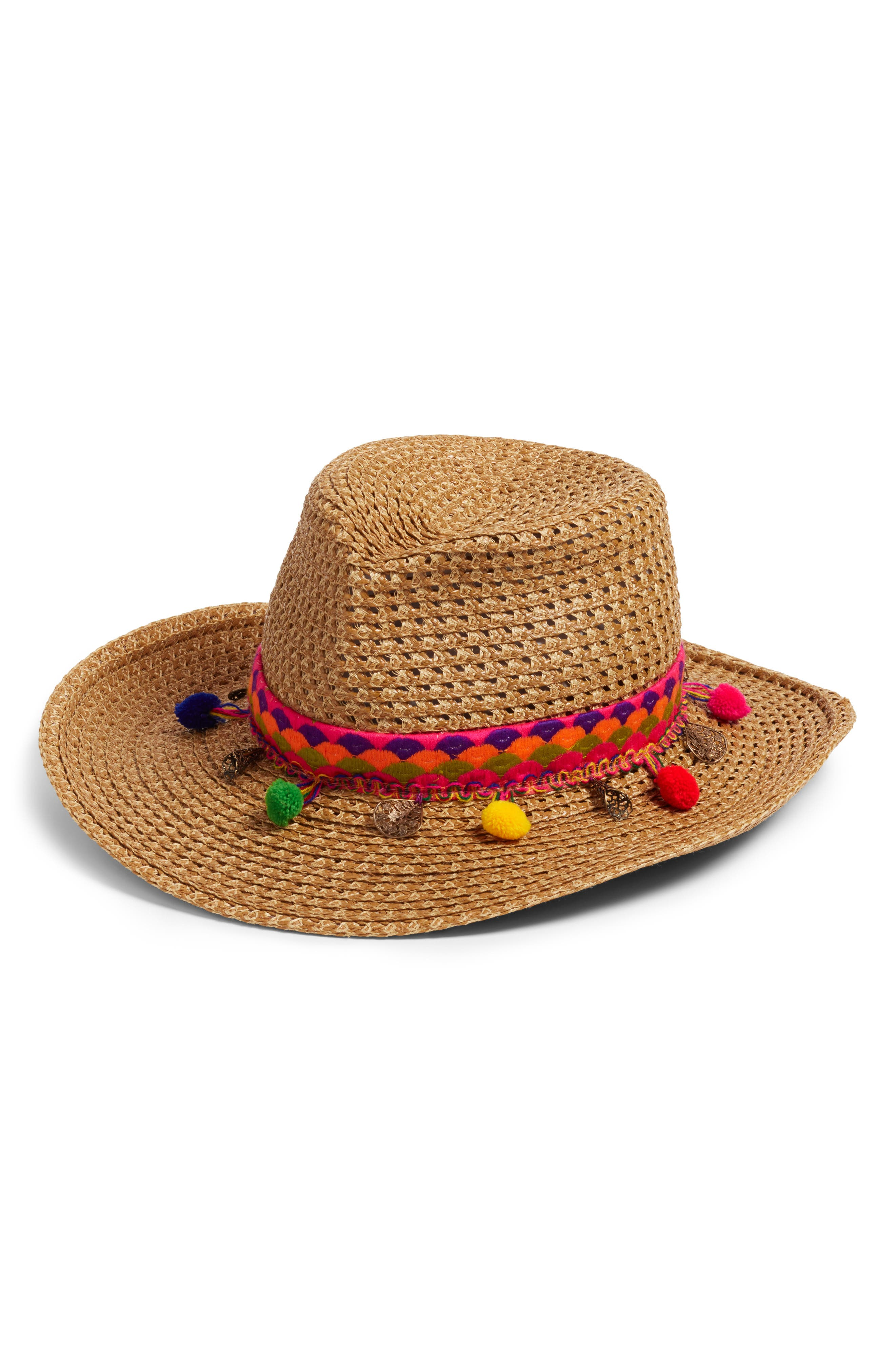 Sunny Squishee<sup>®</sup> Western Hat,                         Main,                         color, Natural Mix