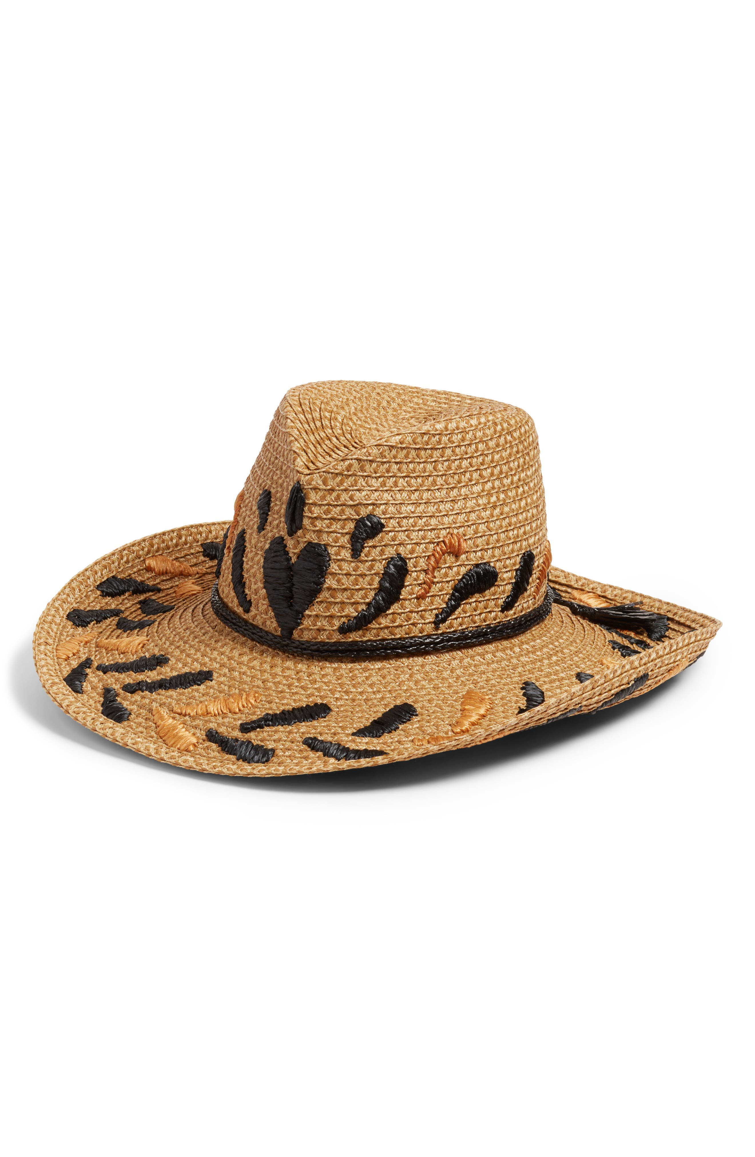 Corsica Squishee<sup>®</sup> Western Hat,                             Main thumbnail 1, color,                             Natural/ Black