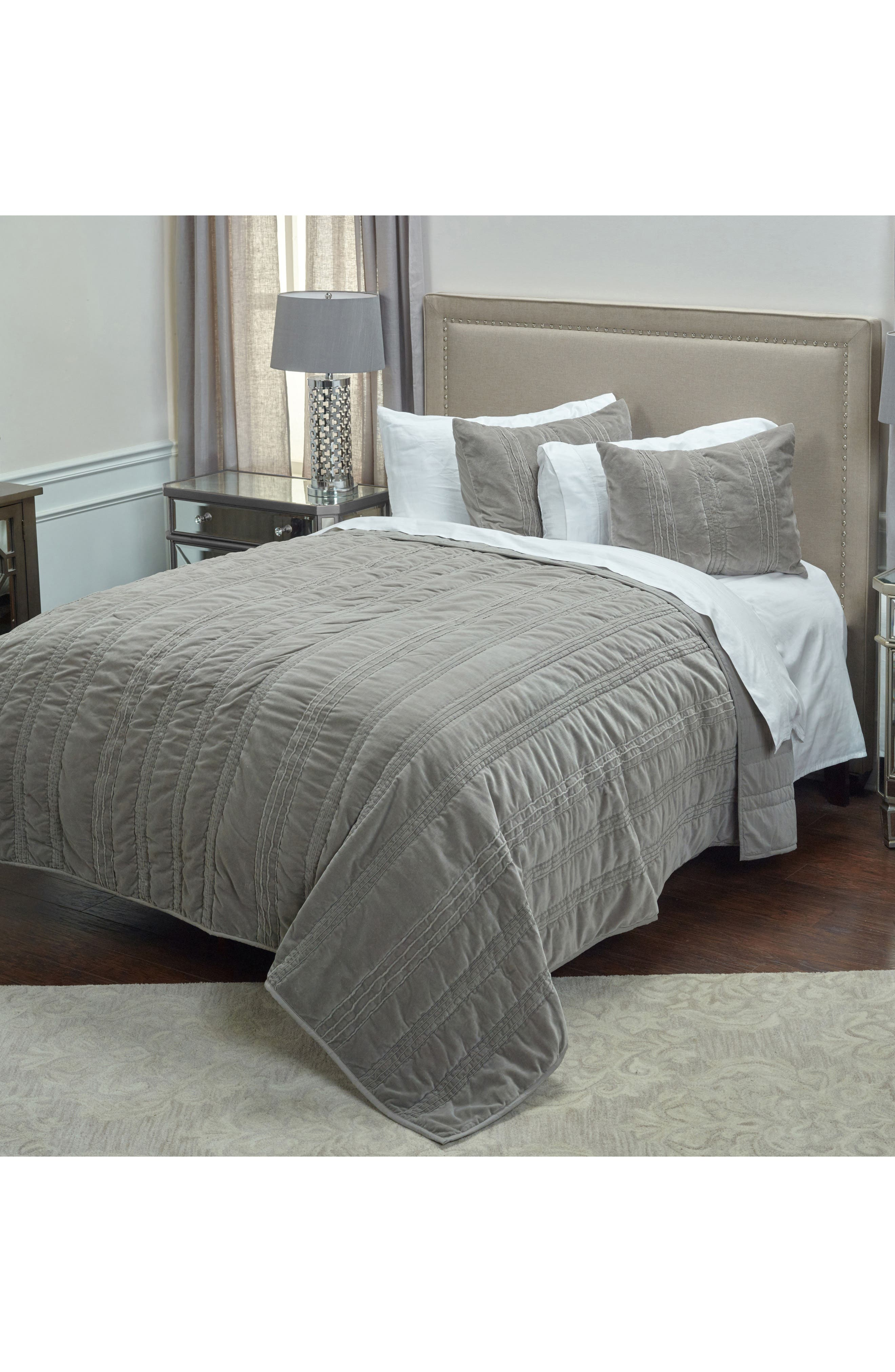 Stripe Quilt,                         Main,                         color, Taupe