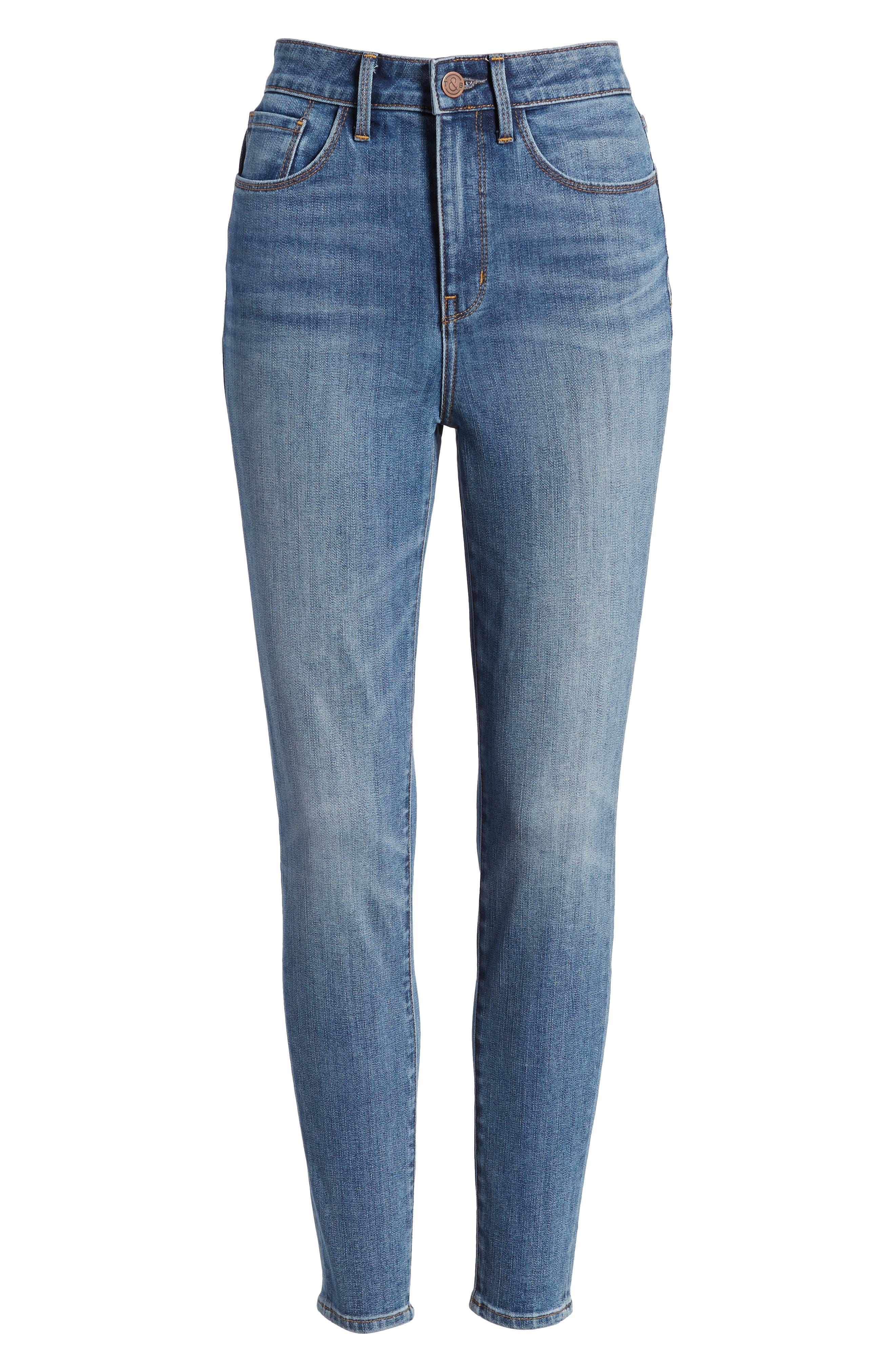 Charity High Waist Skinny Ankle Jeans,                             Alternate thumbnail 8, color,                             Rain Dusk Worn