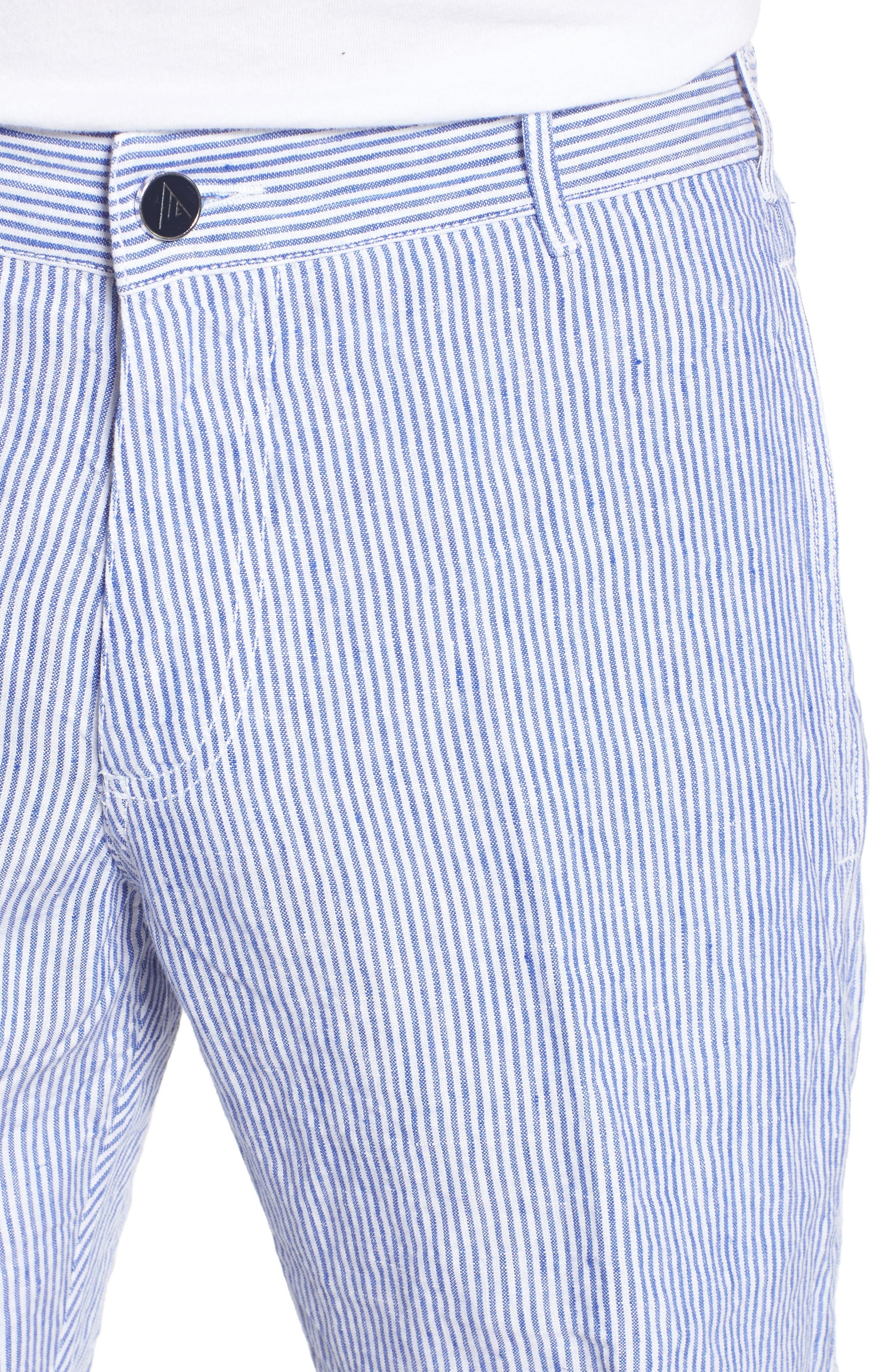 Alternate Image 4  - Vilebrequin Stripe Linen Bermuda Shorts