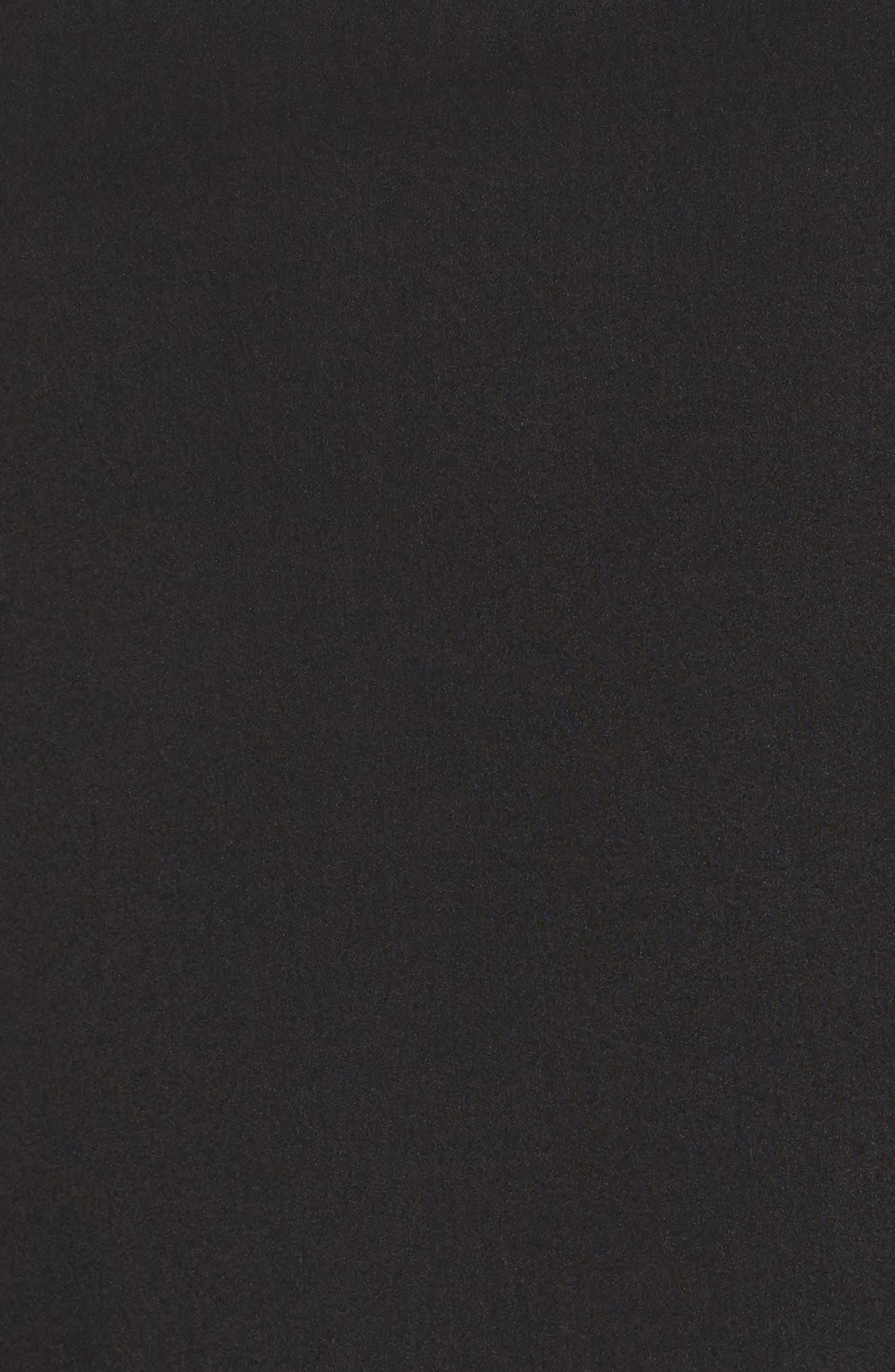 Chiffon Overlay Tee,                             Alternate thumbnail 5, color,                             Black