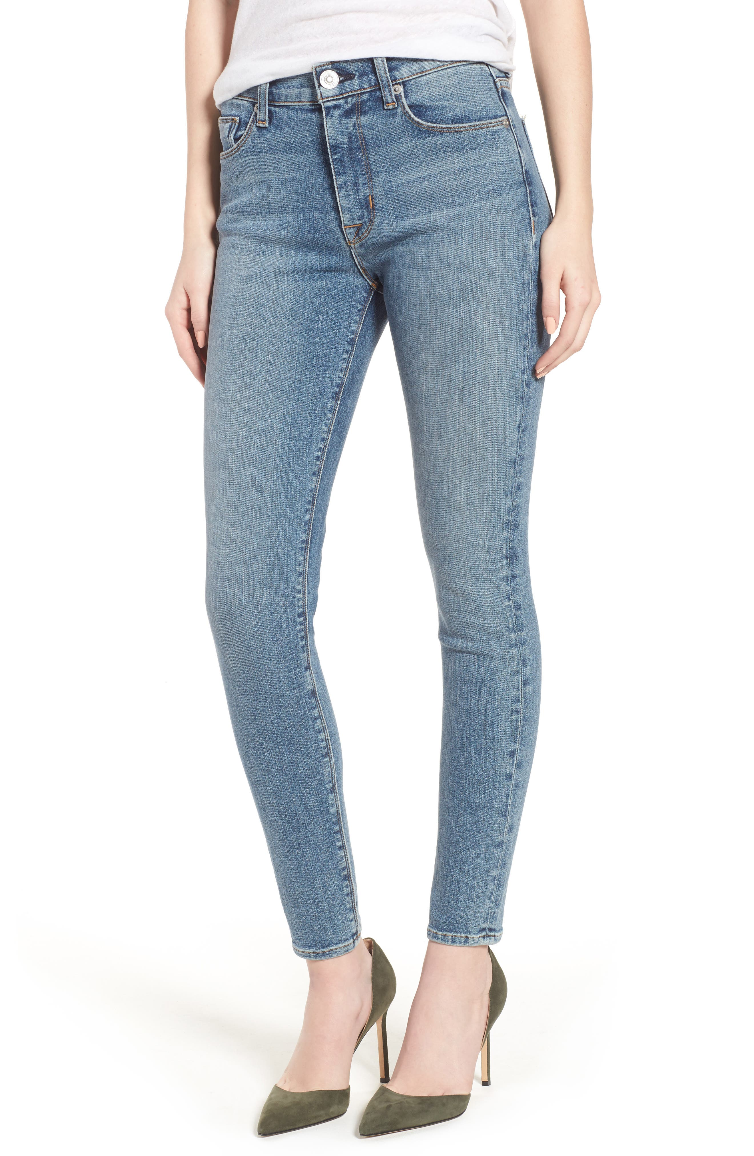 Barbara High Waist Ankle Super Skinny Jeans,                         Main,                         color, Universal