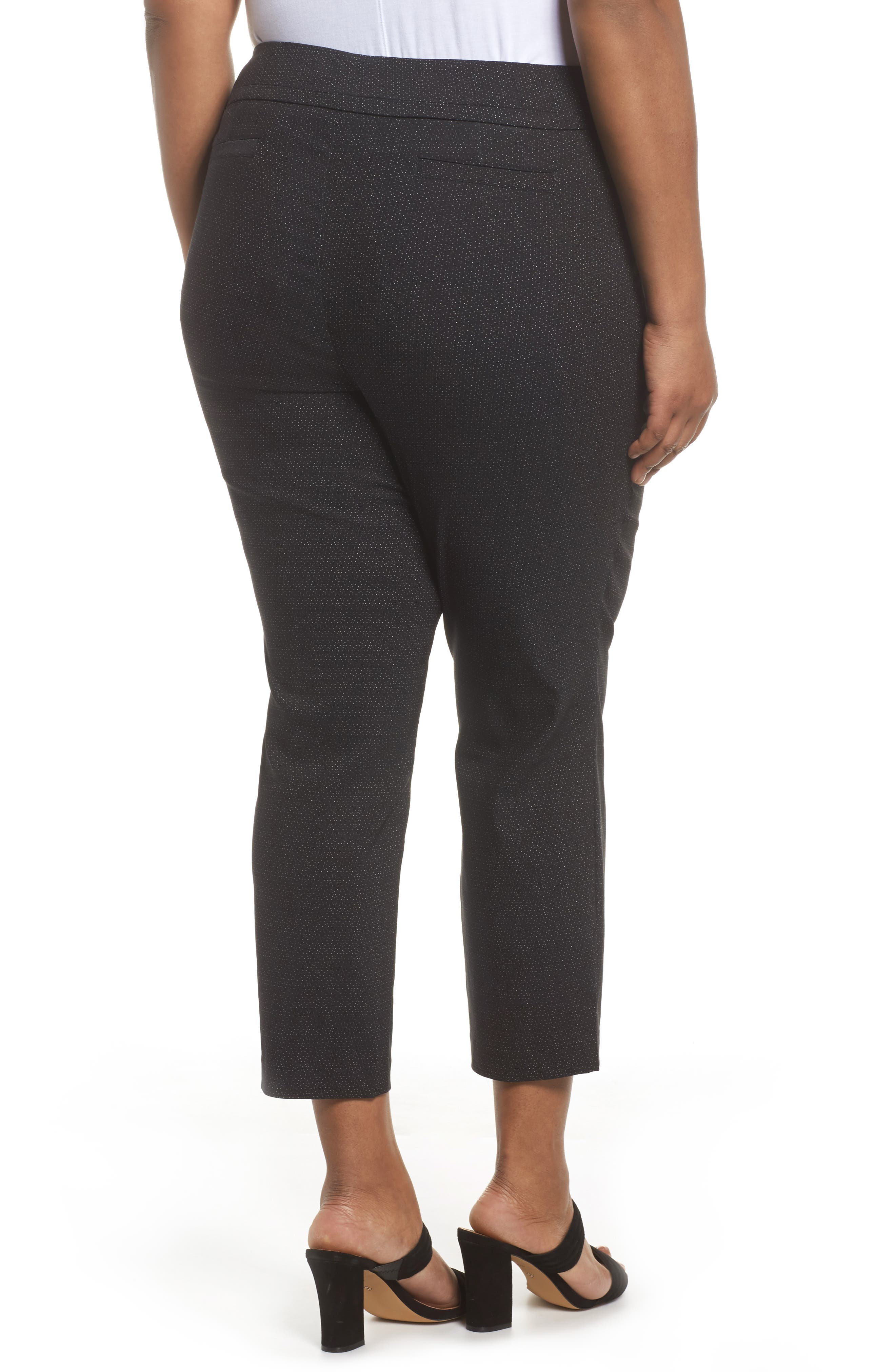 Alternate Image 2  - Sejour Textured Stretch Crop Pants (Plus Size)