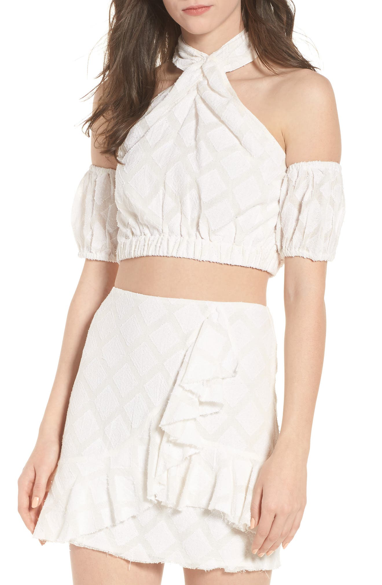 Spencer Crop Top,                             Main thumbnail 1, color,                             Ivory